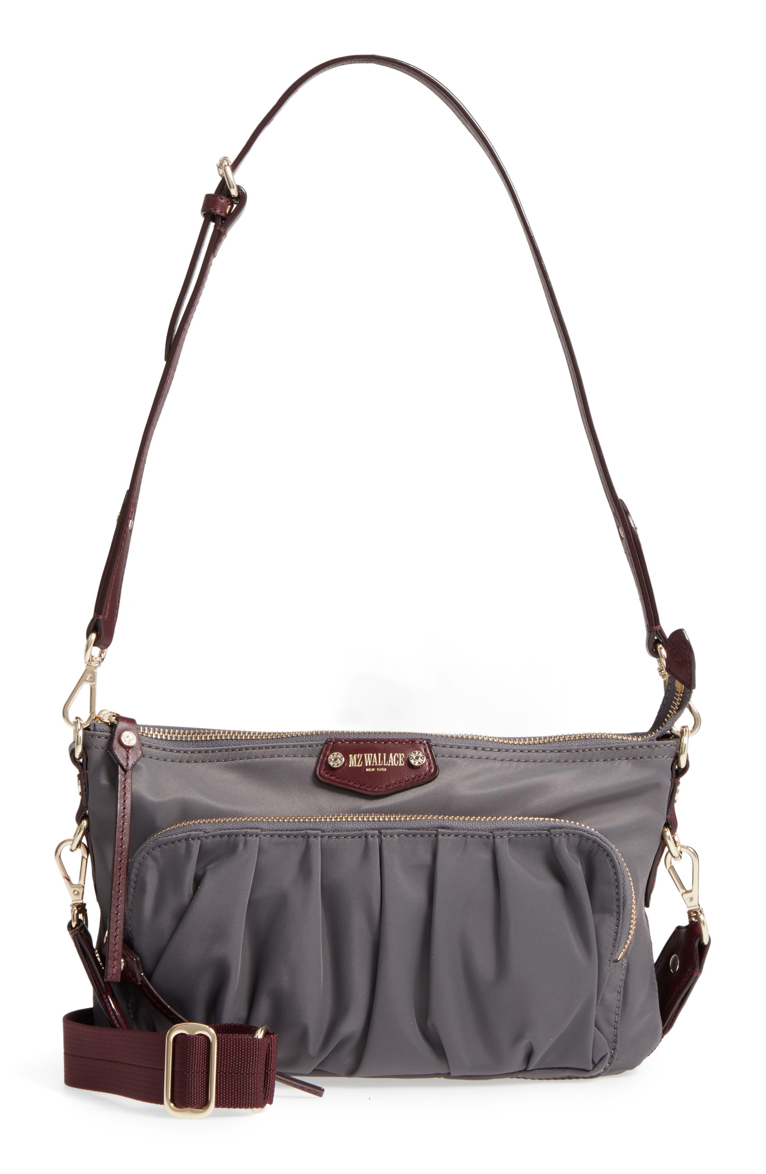 Toni Bedford Nylon Crossbody Bag,                             Main thumbnail 1, color,                             Magnet