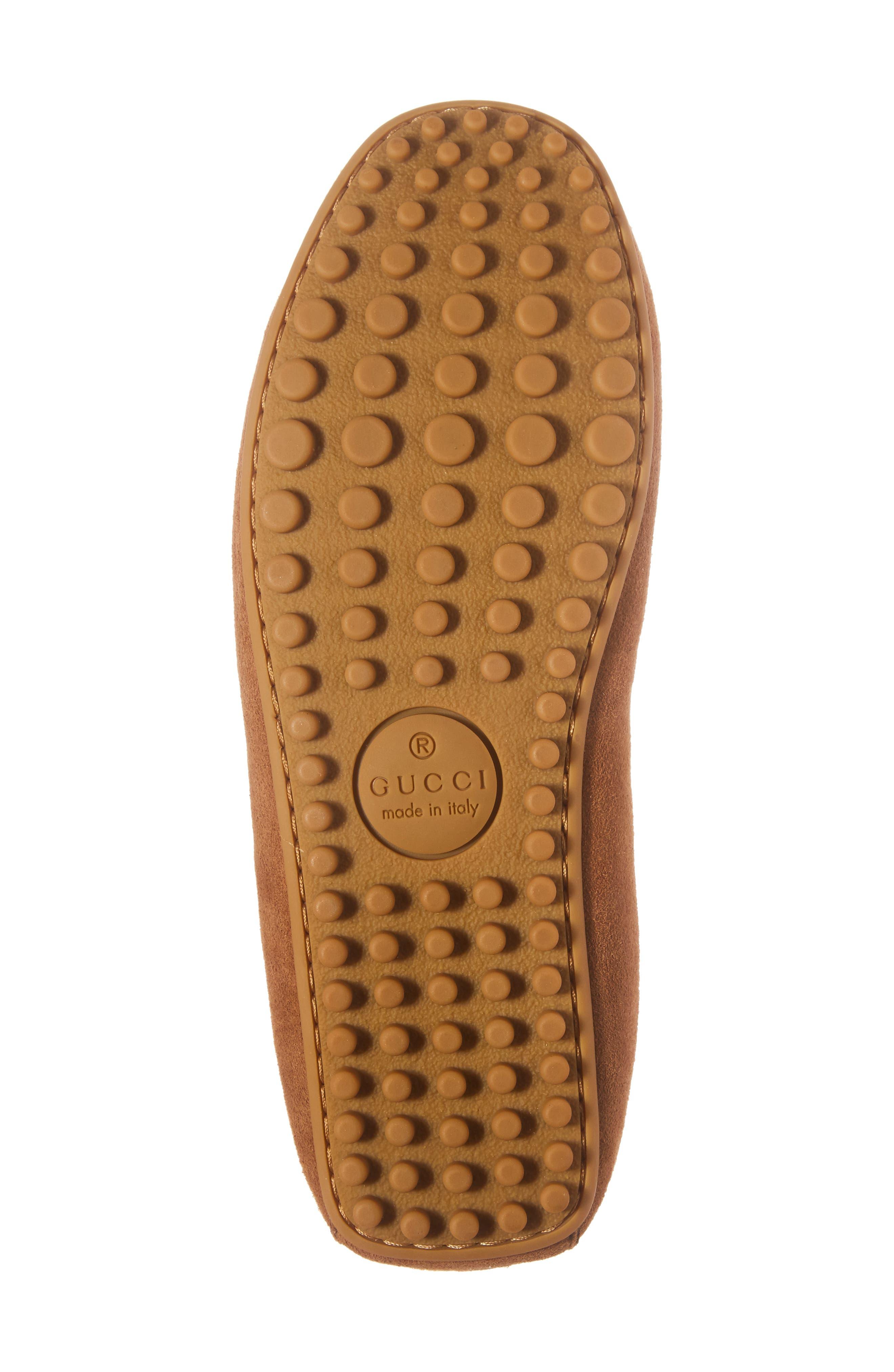 Driving Shoe with Genuine Shearling,                             Alternate thumbnail 6, color,                             Dark Tan