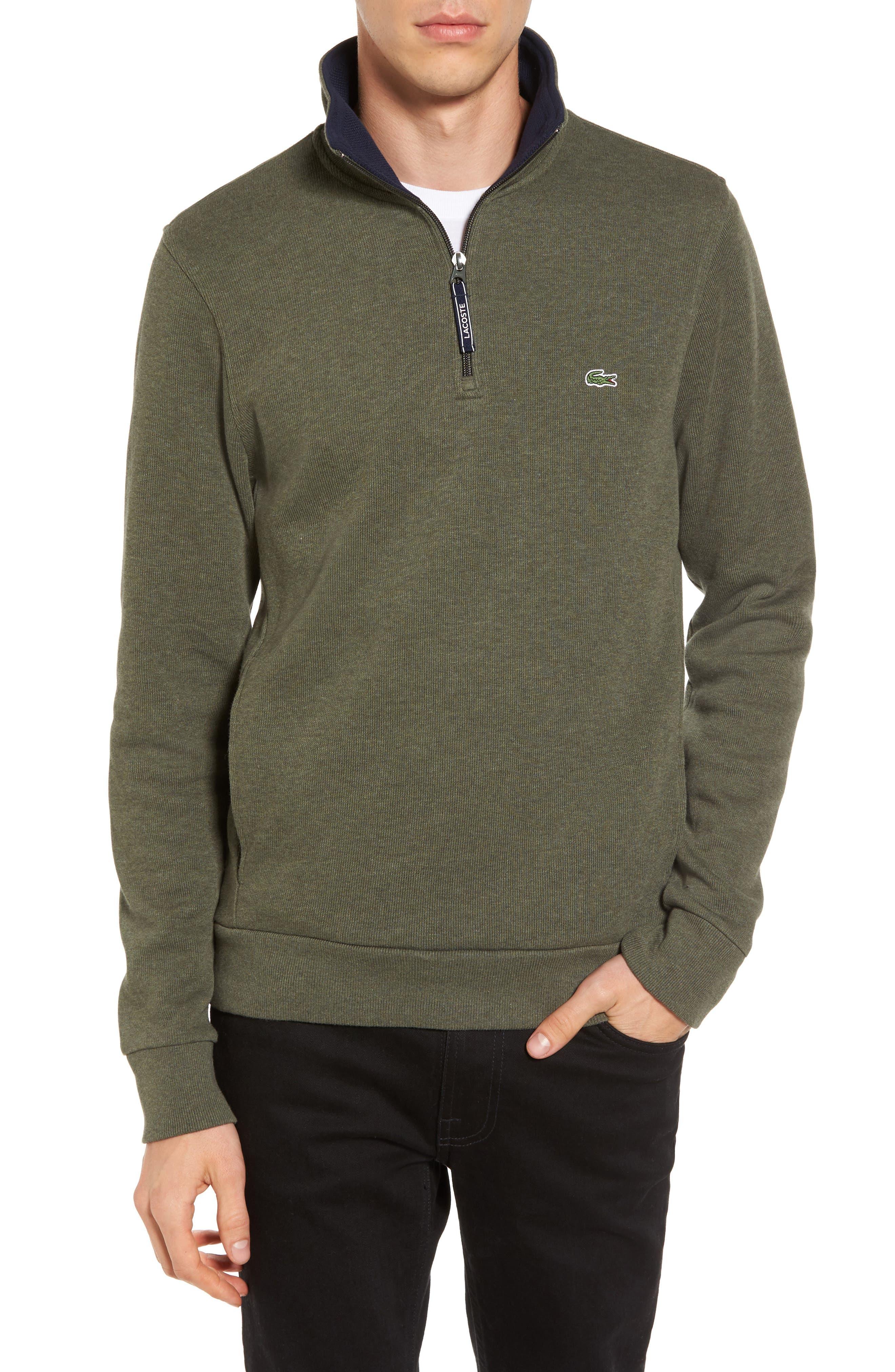 Quarter Zip Sweatshirt,                         Main,                         color, 2Qh Army/ Navy Blue