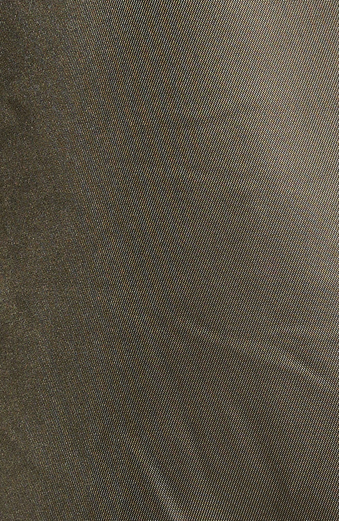 Alternate Image 5  - Black Rivet Water Resistant Hooded Satin Flight Jacket