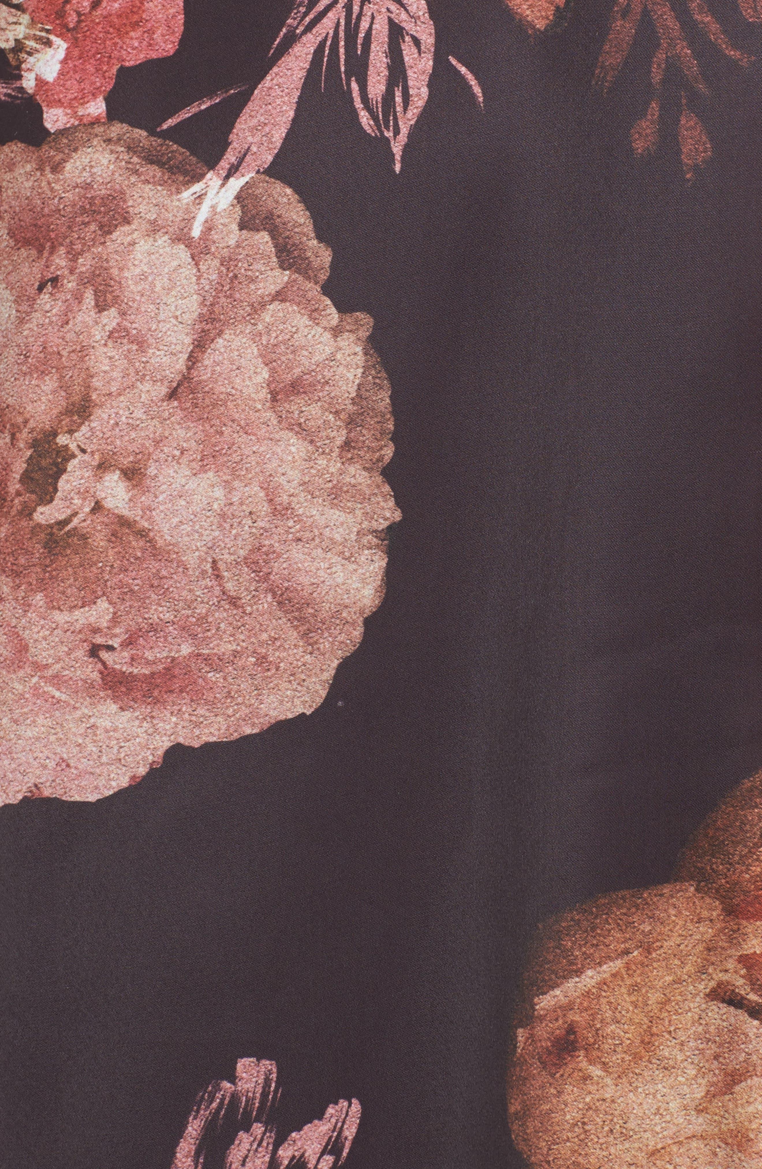 Floral Kimono,                             Alternate thumbnail 5, color,                             Victorian Floral