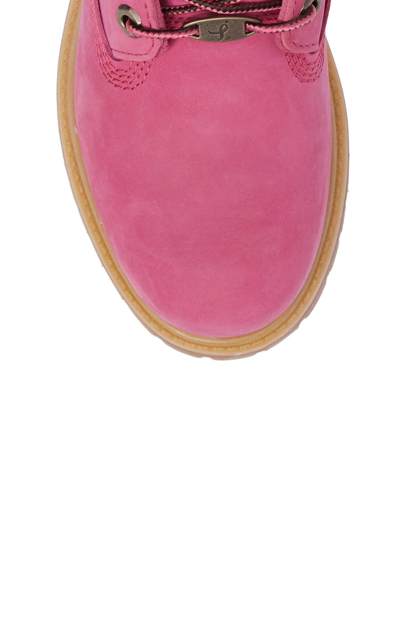 x Susan G. Komen 6-Inch Waterproof Insulated Boot,                             Alternate thumbnail 5, color,                             Bright Pink Nubuck