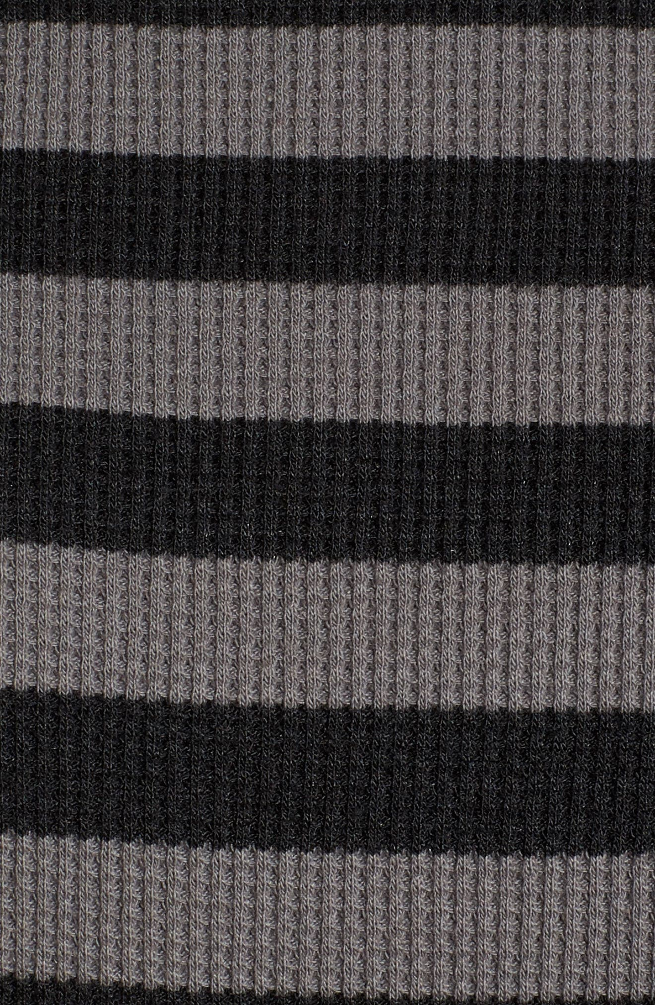 Stripe Thermal Hoodie,                             Alternate thumbnail 5, color,                             Charcoal