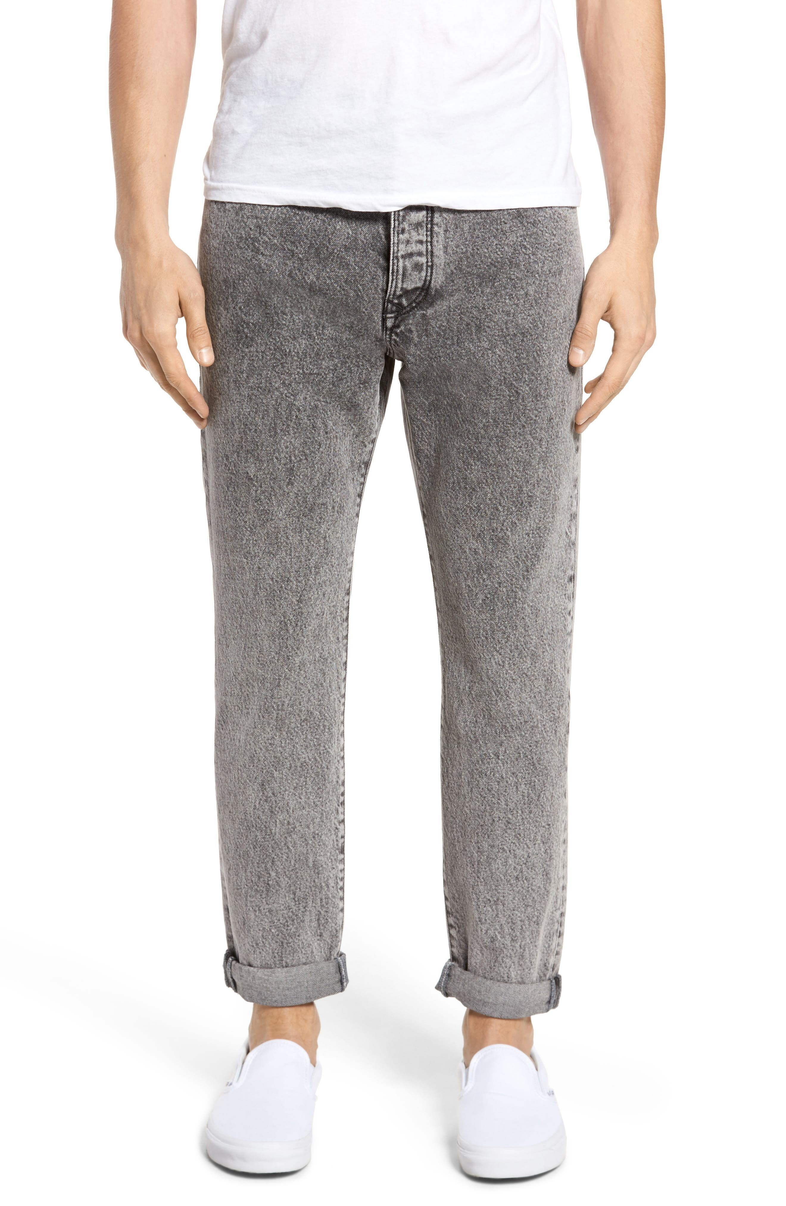 Main Image - Tommy Hilfiger 90s Classic Straight Leg Jeans (Washed Black)