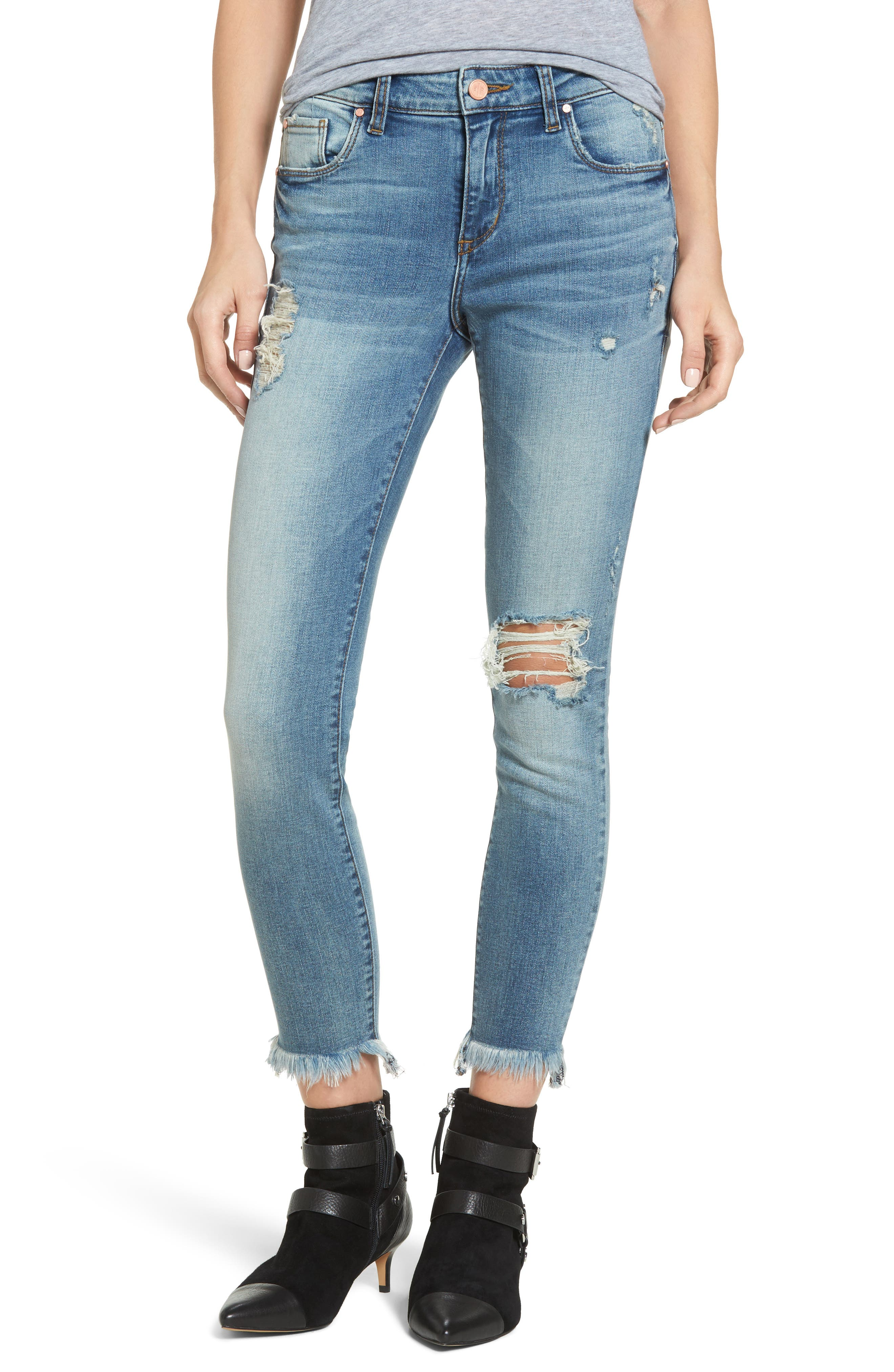 BP. Distressed Ankle Skinny Jeans (Destroy)