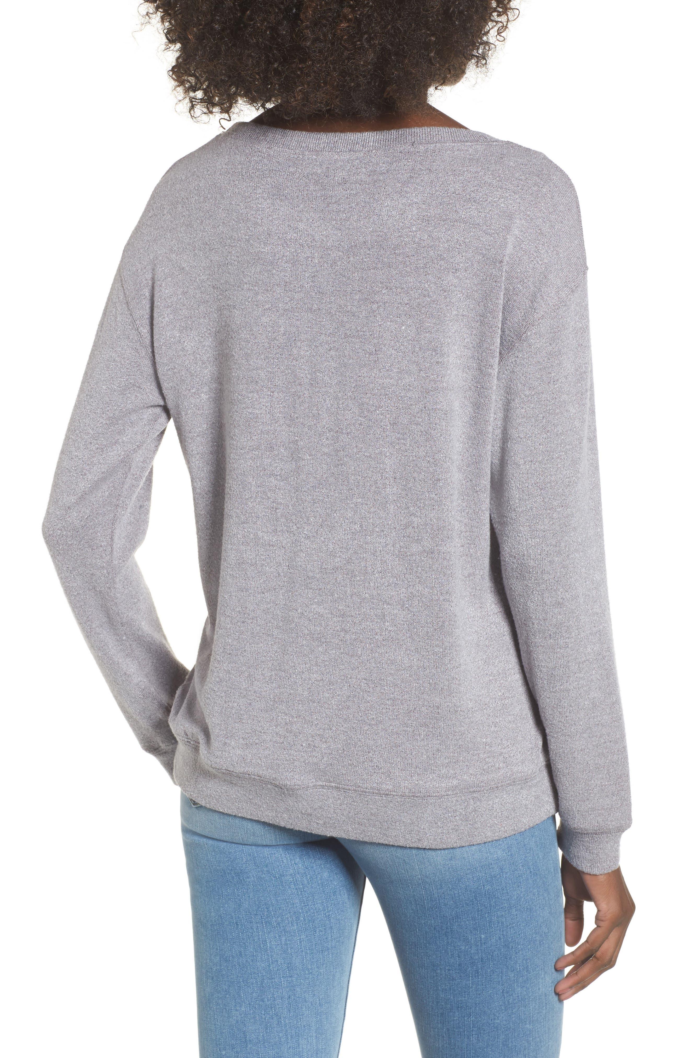Phoebe Fleece Sweatshirt,                             Alternate thumbnail 2, color,                             Heather Grey