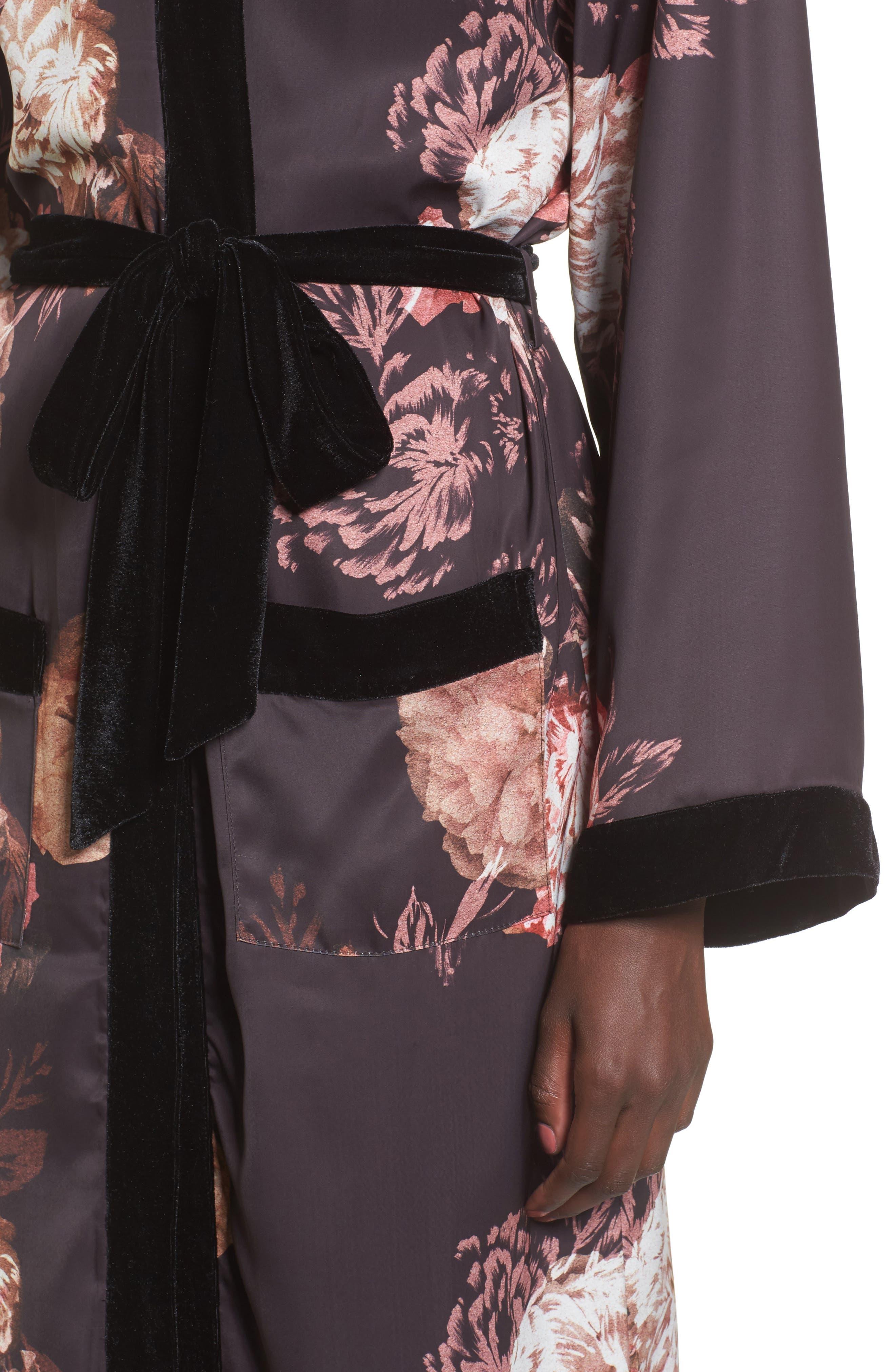 Floral Kimono,                             Alternate thumbnail 4, color,                             Victorian Floral