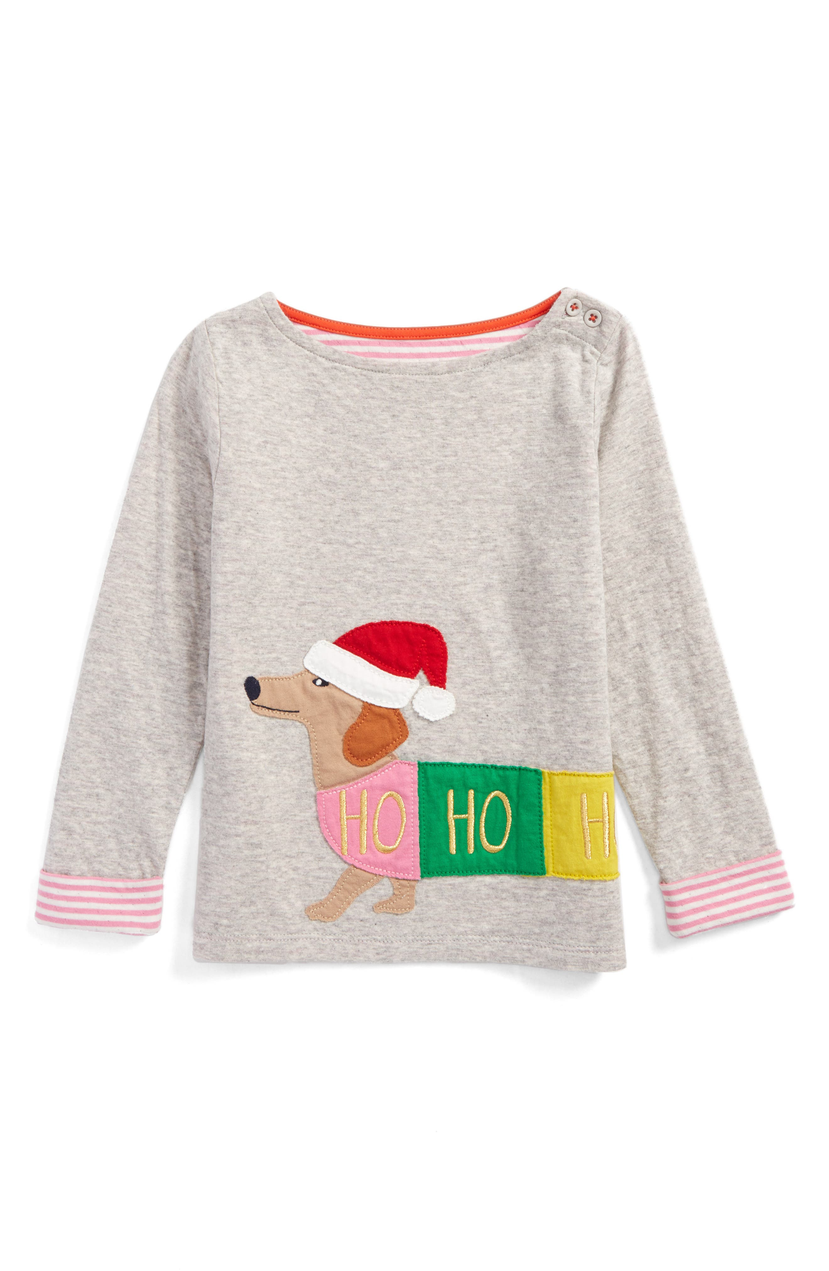 Alternate Image 1 Selected - Mini Boden Cosy Appliqué Tee (Toddler Girls, Little Girls & Big Girls)
