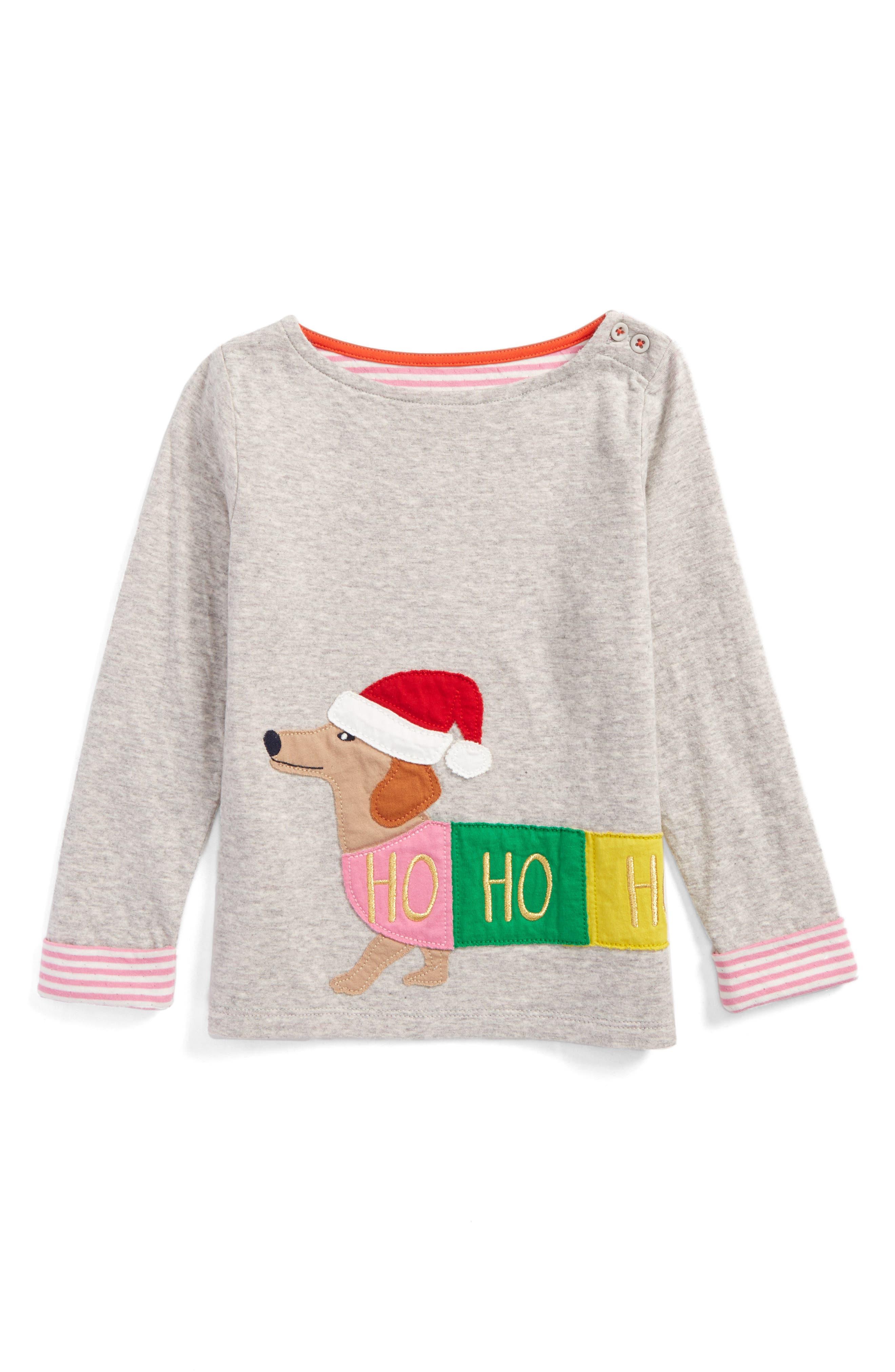 Main Image - Mini Boden Cosy Appliqué Tee (Toddler Girls, Little Girls & Big Girls)