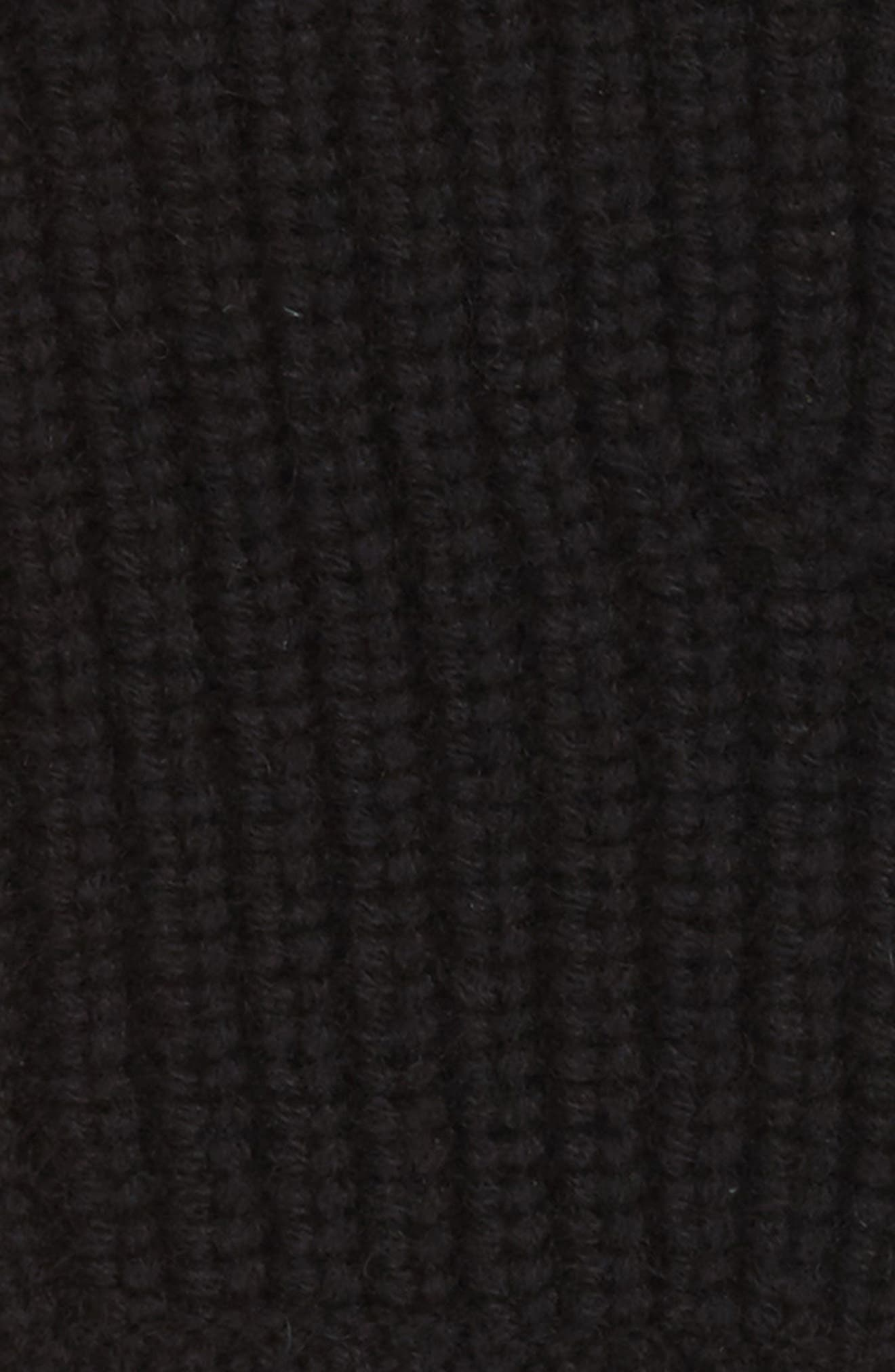 Ace Cashmere Knit Fingerless Gloves,                             Alternate thumbnail 2, color,                             Black