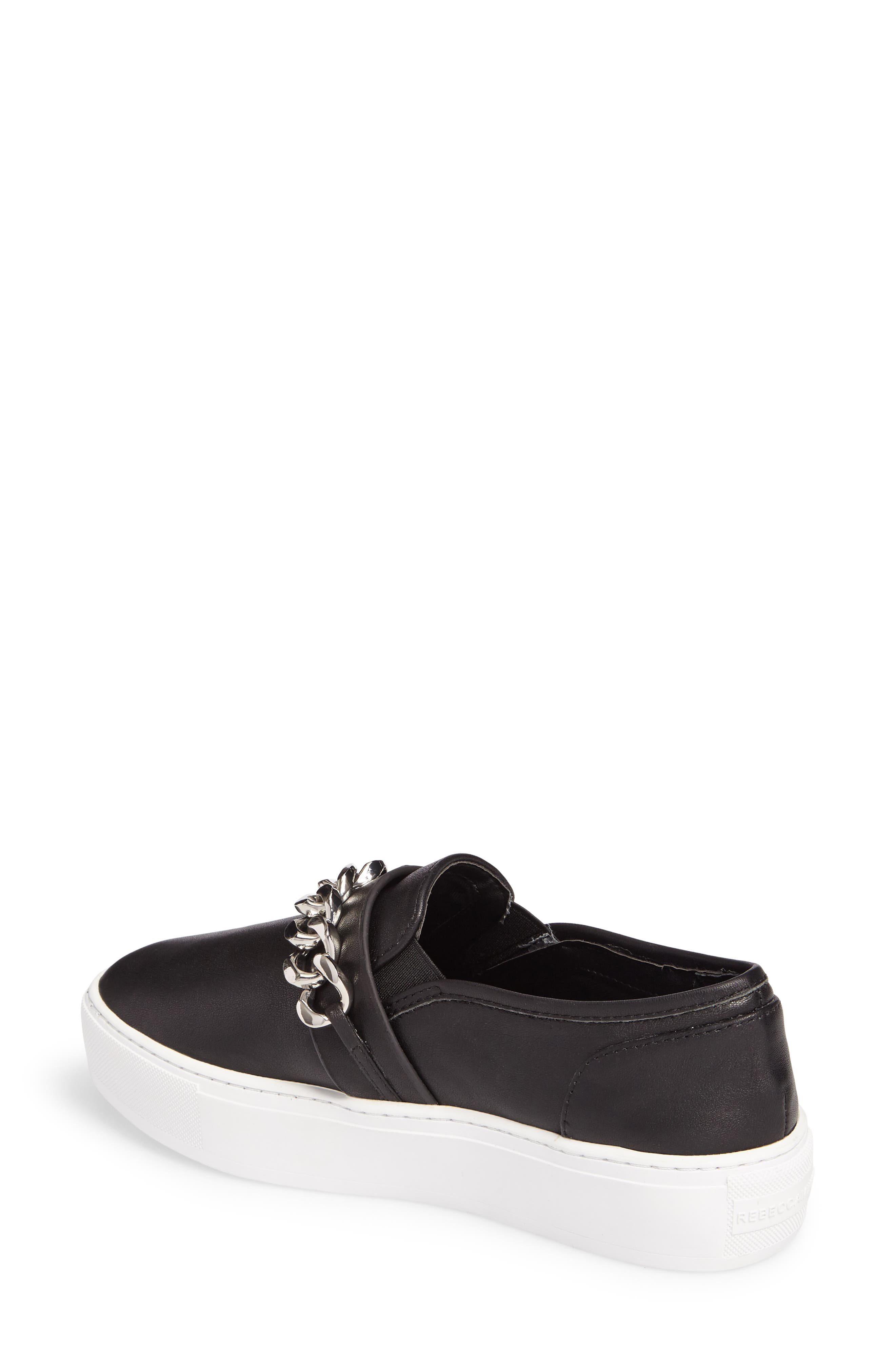 Nala Slip-On Sneaker,                             Alternate thumbnail 2, color,                             Black Leather
