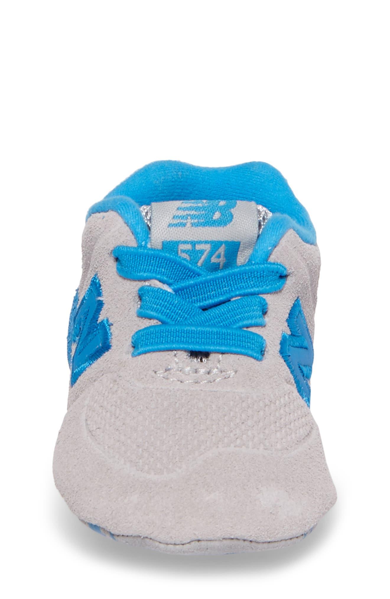 547 Crib Shoe,                             Alternate thumbnail 4, color,                             Blue/ Grey