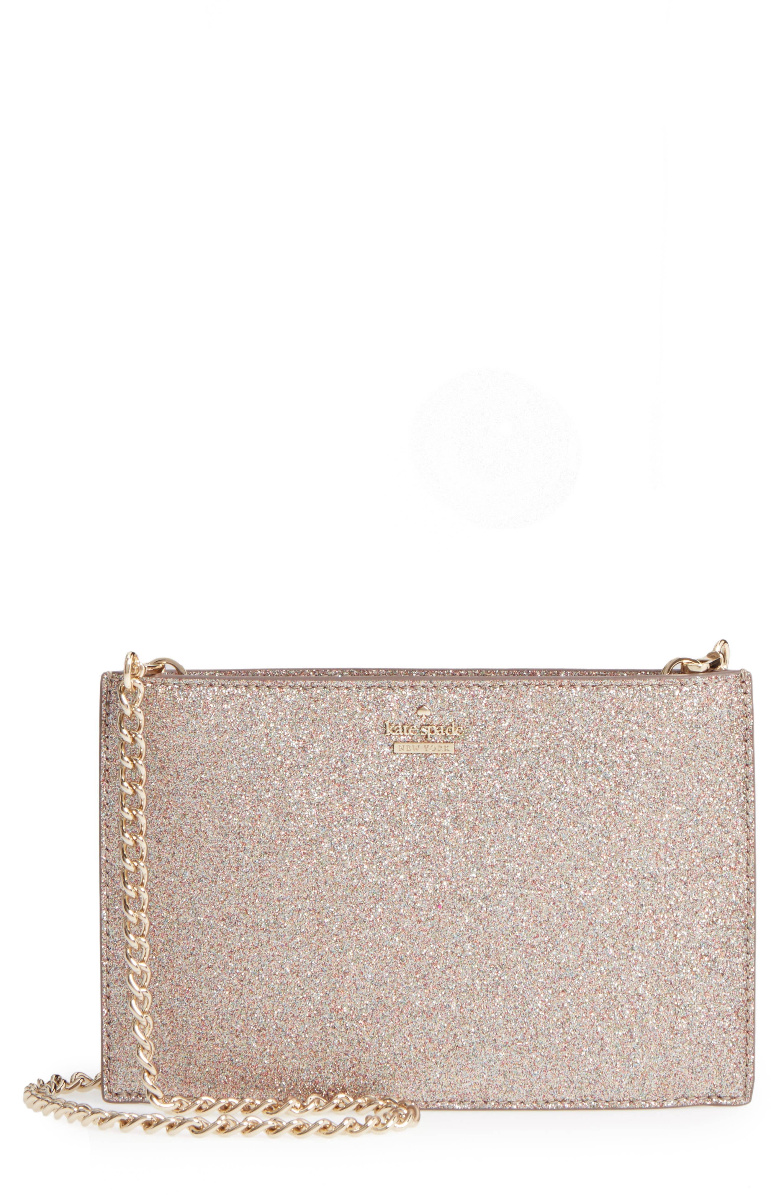 kate spade new york burgess court – mini sima glitter shoulder bag