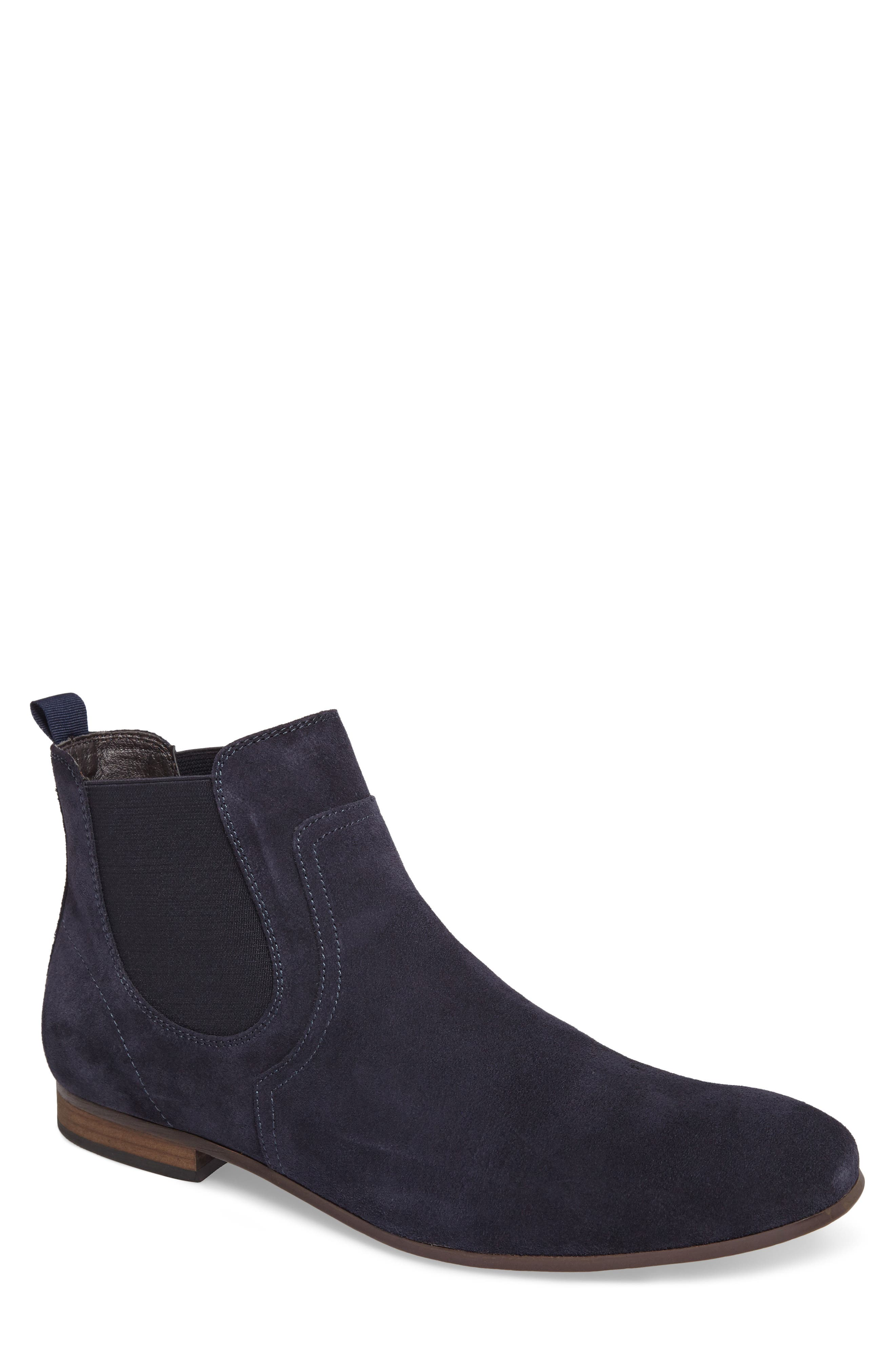 Brysen Chelsea Boot,                         Main,                         color, Blue Suede
