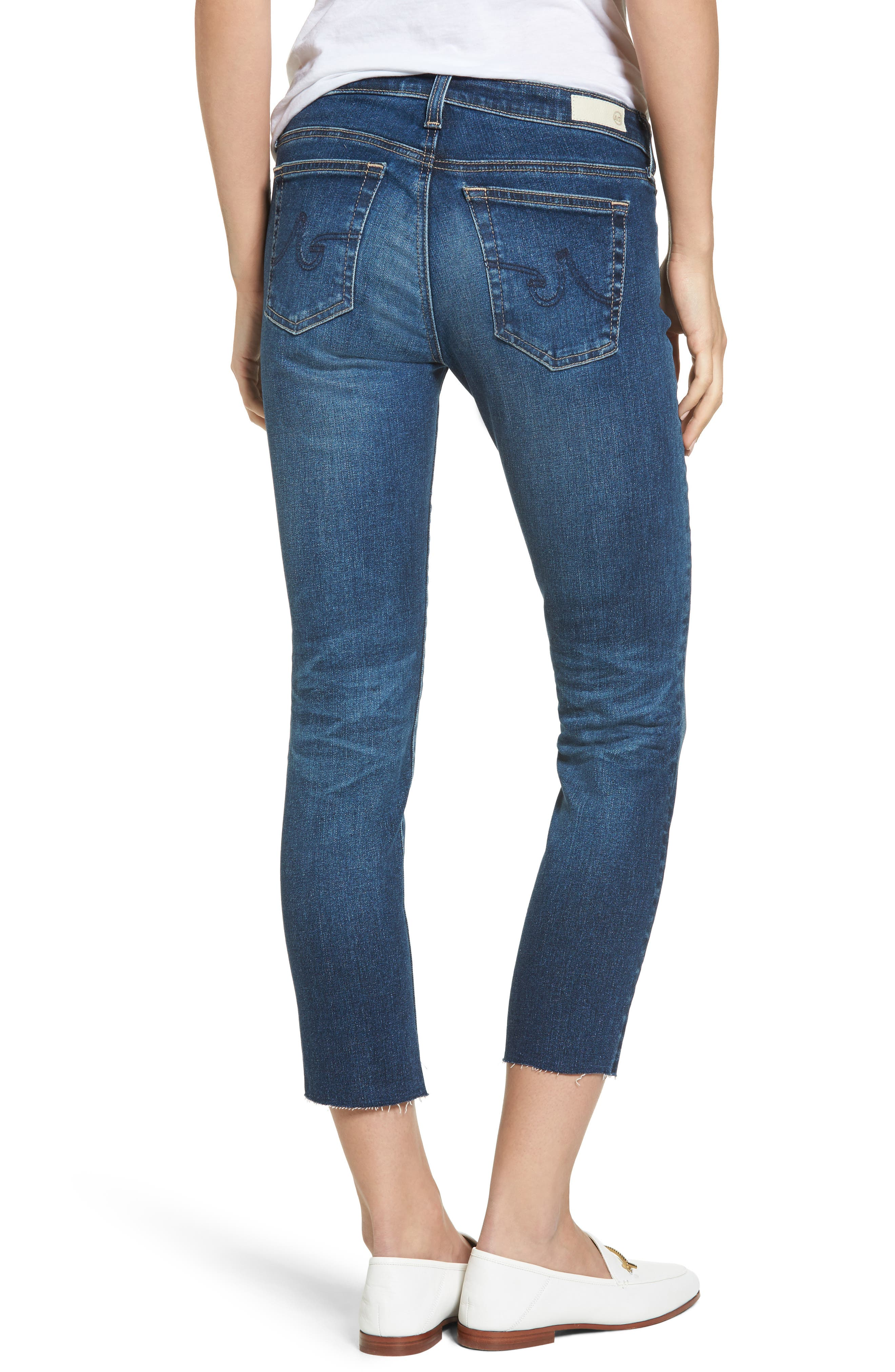 The Stilt Crop Skinny Jeans,                             Alternate thumbnail 2, color,                             5 Years Indigo Avenue