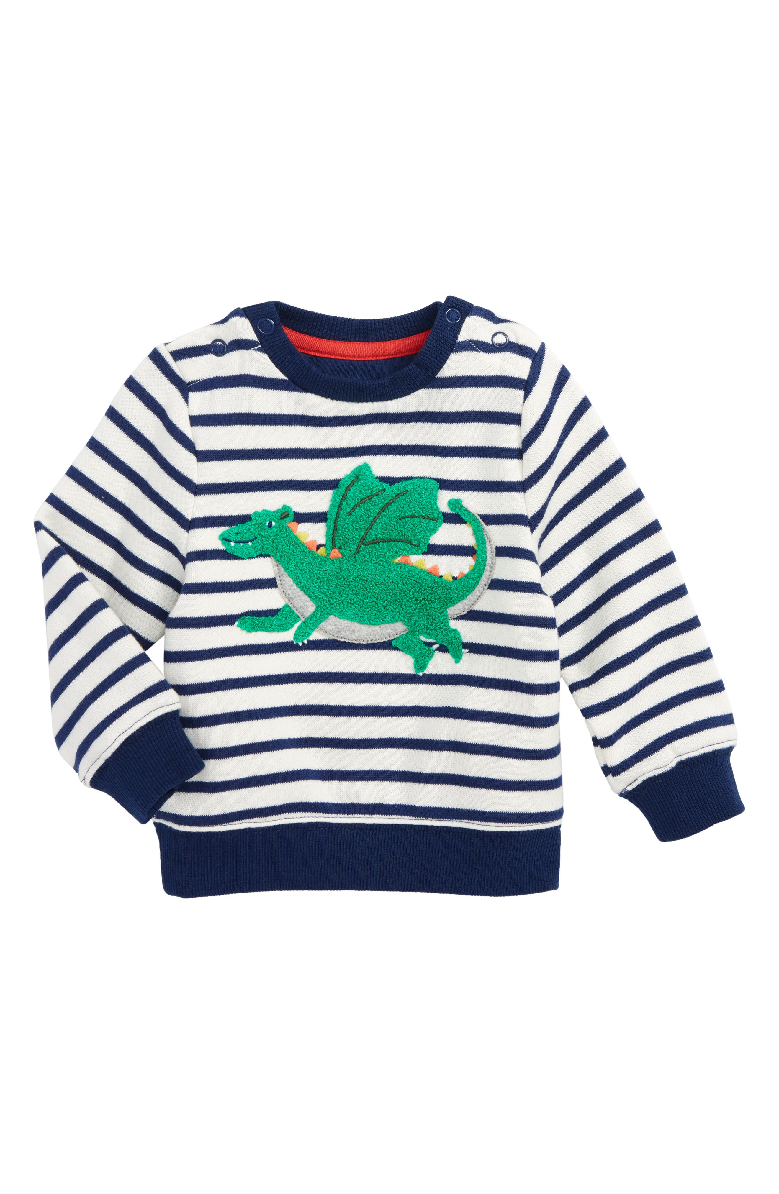 Mini Boden Appliqué Cozy Sweatshirt (Baby Boys & Toddler Boys)