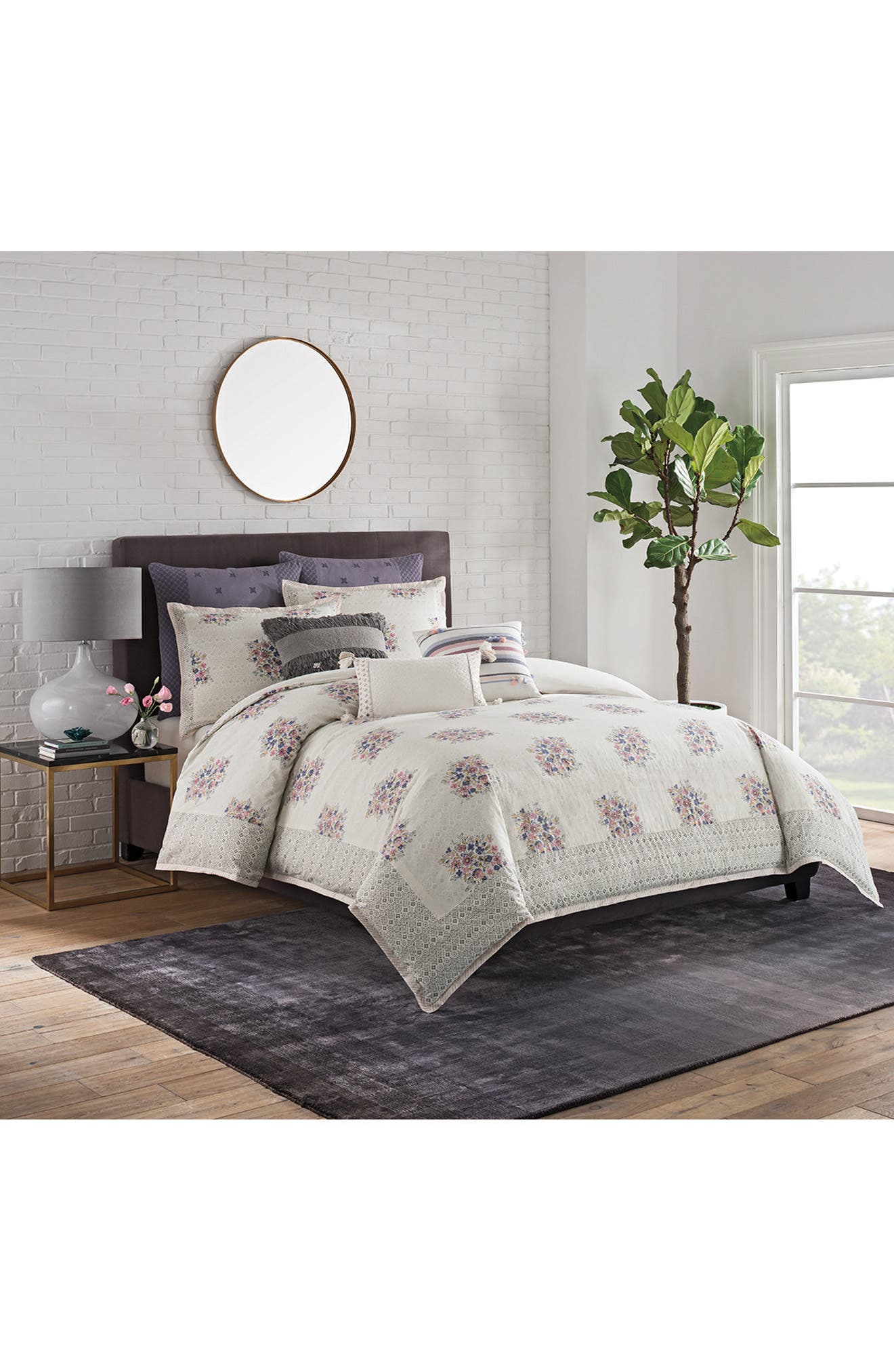 Tassel Stripe Accent Pillow,                             Alternate thumbnail 3, color,                             Purple Multi
