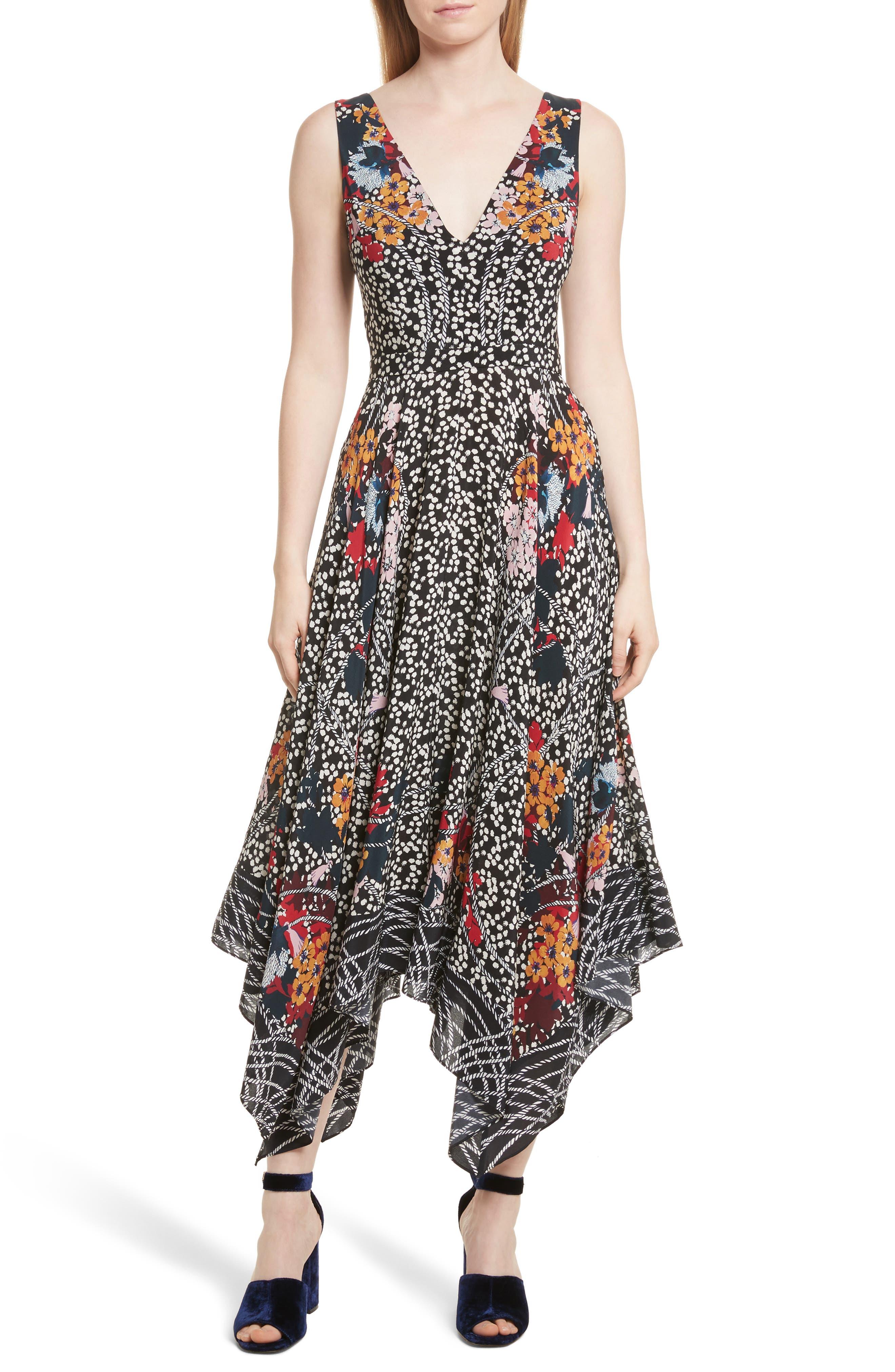 Main Image - SALONI Zuri Floral Print Dress