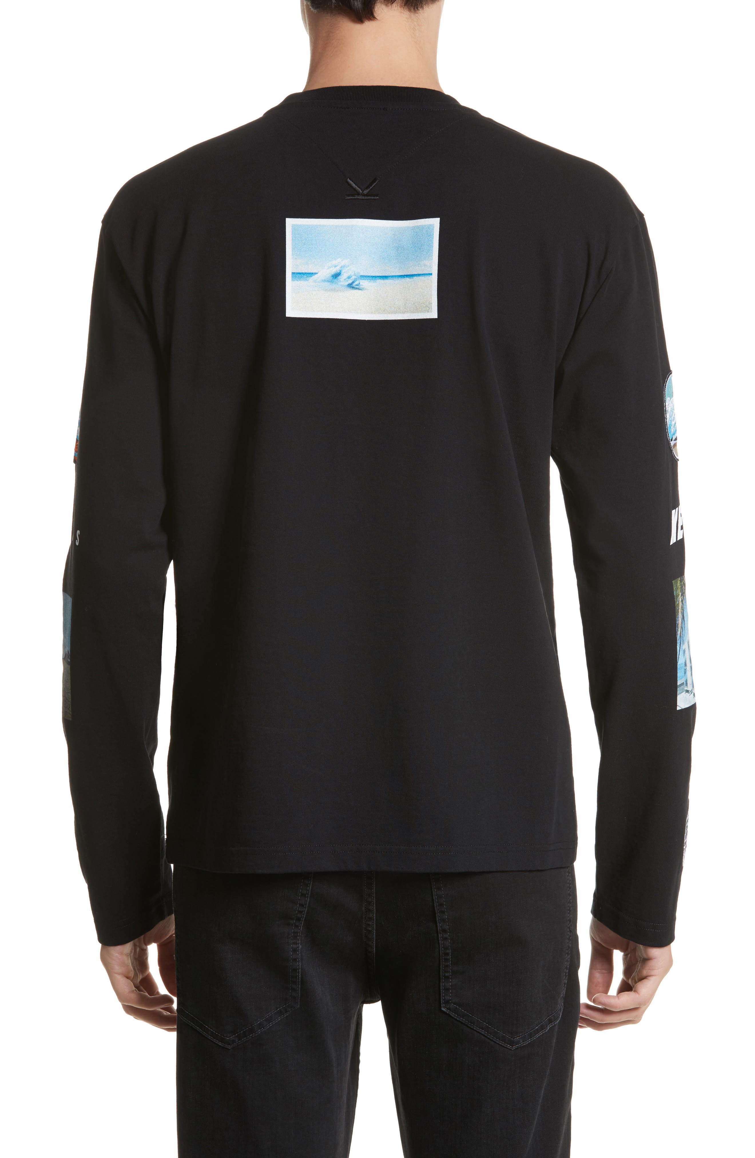 Landscape Long Sleeve T-Shirt,                             Alternate thumbnail 2, color,                             Black