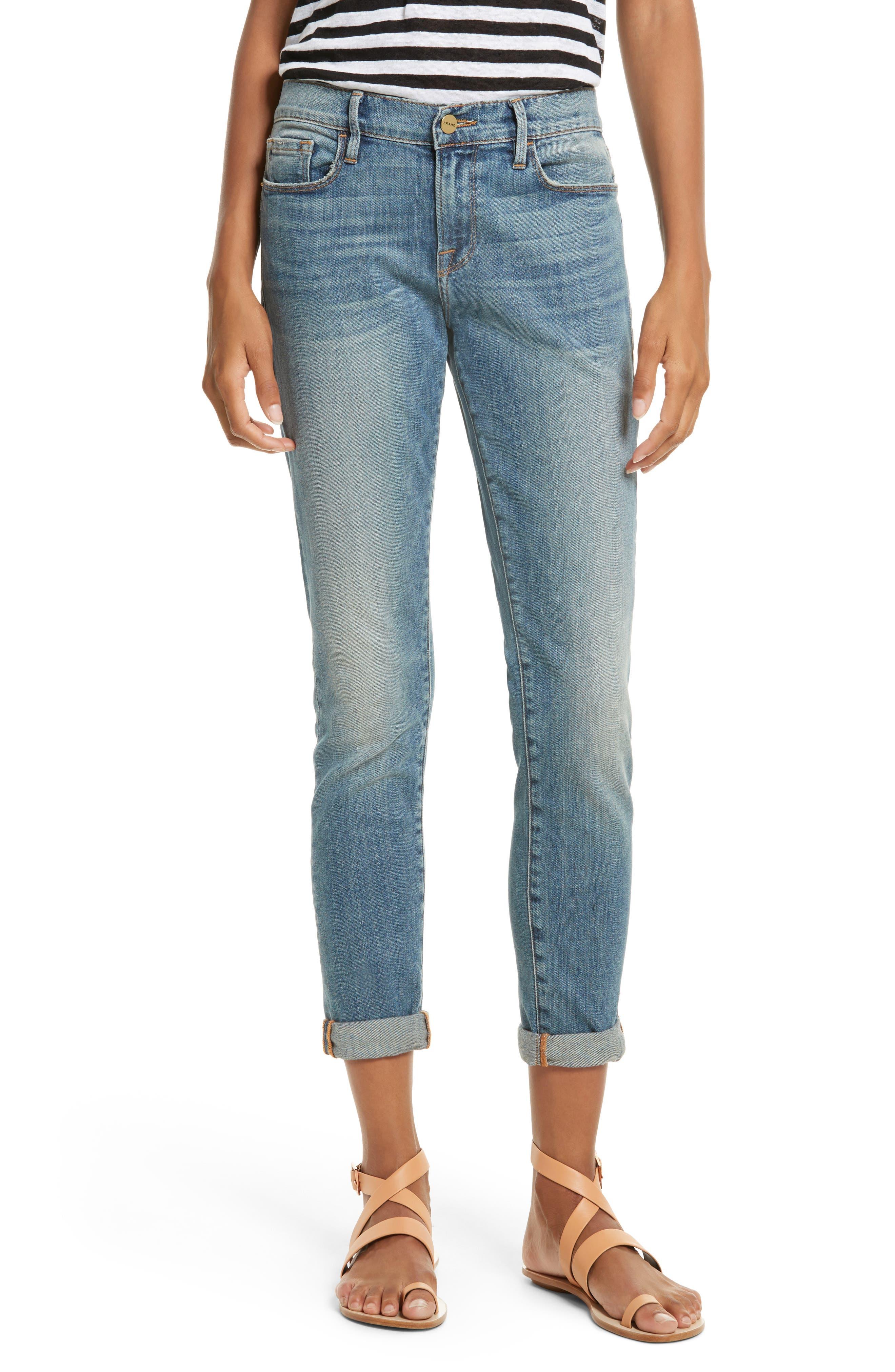 Le Garçon Crop Boyfriend Jeans,                         Main,                         color, Storm