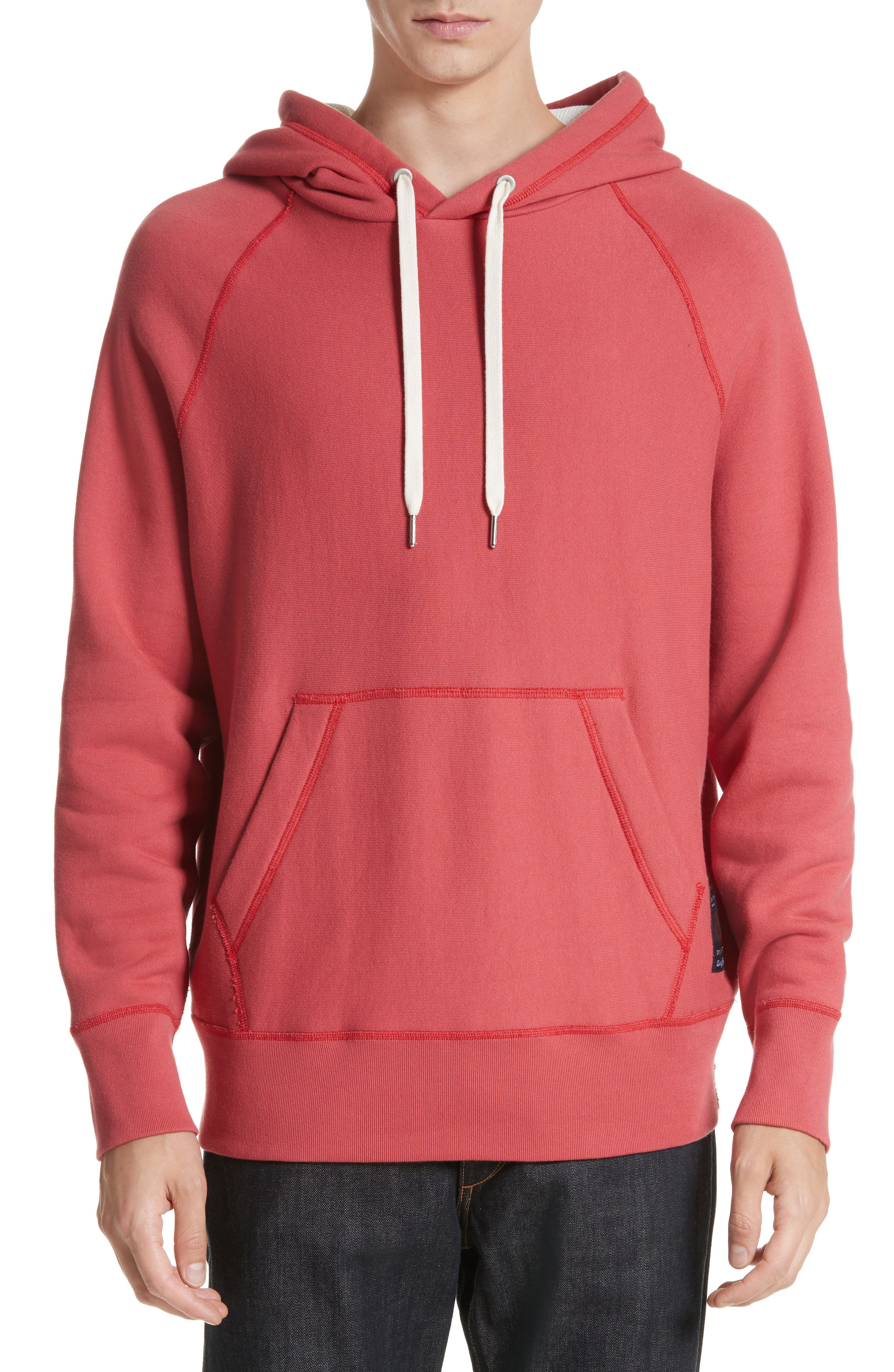 Racer Hoodie,                         Main,                         color, Washed Red