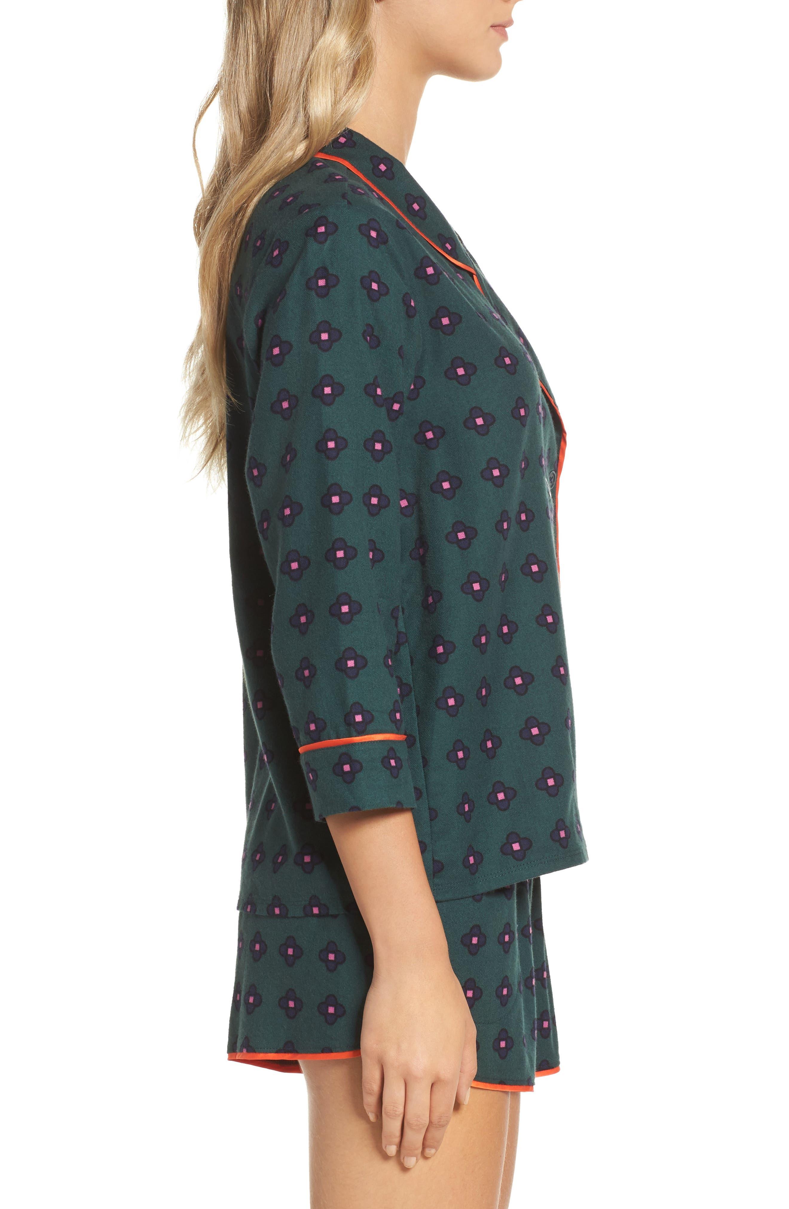 Alternate Image 3  - Room Service Shorty Flannel Pajamas