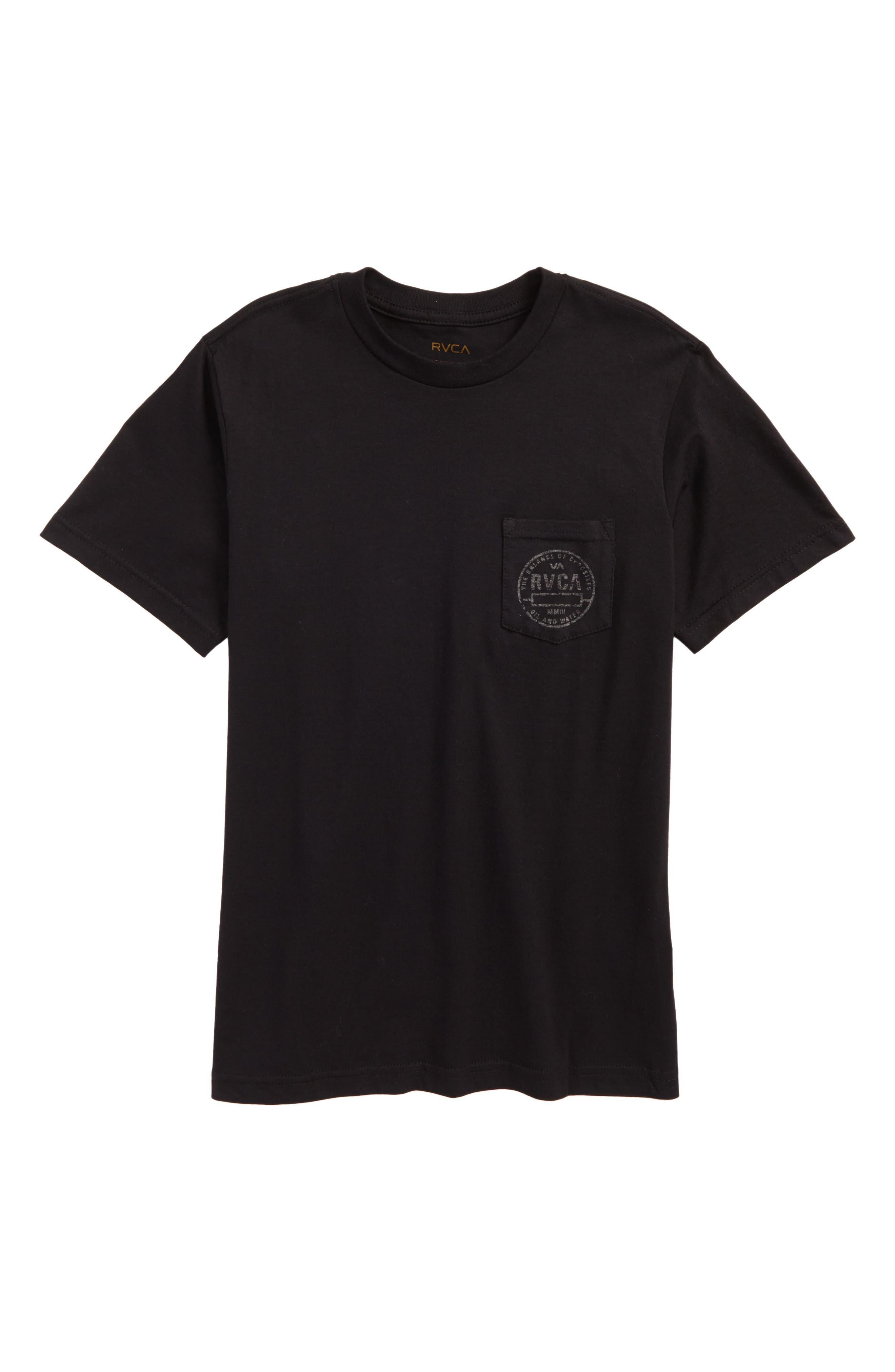 Stamp Pocket T-Shirt,                         Main,                         color, Black