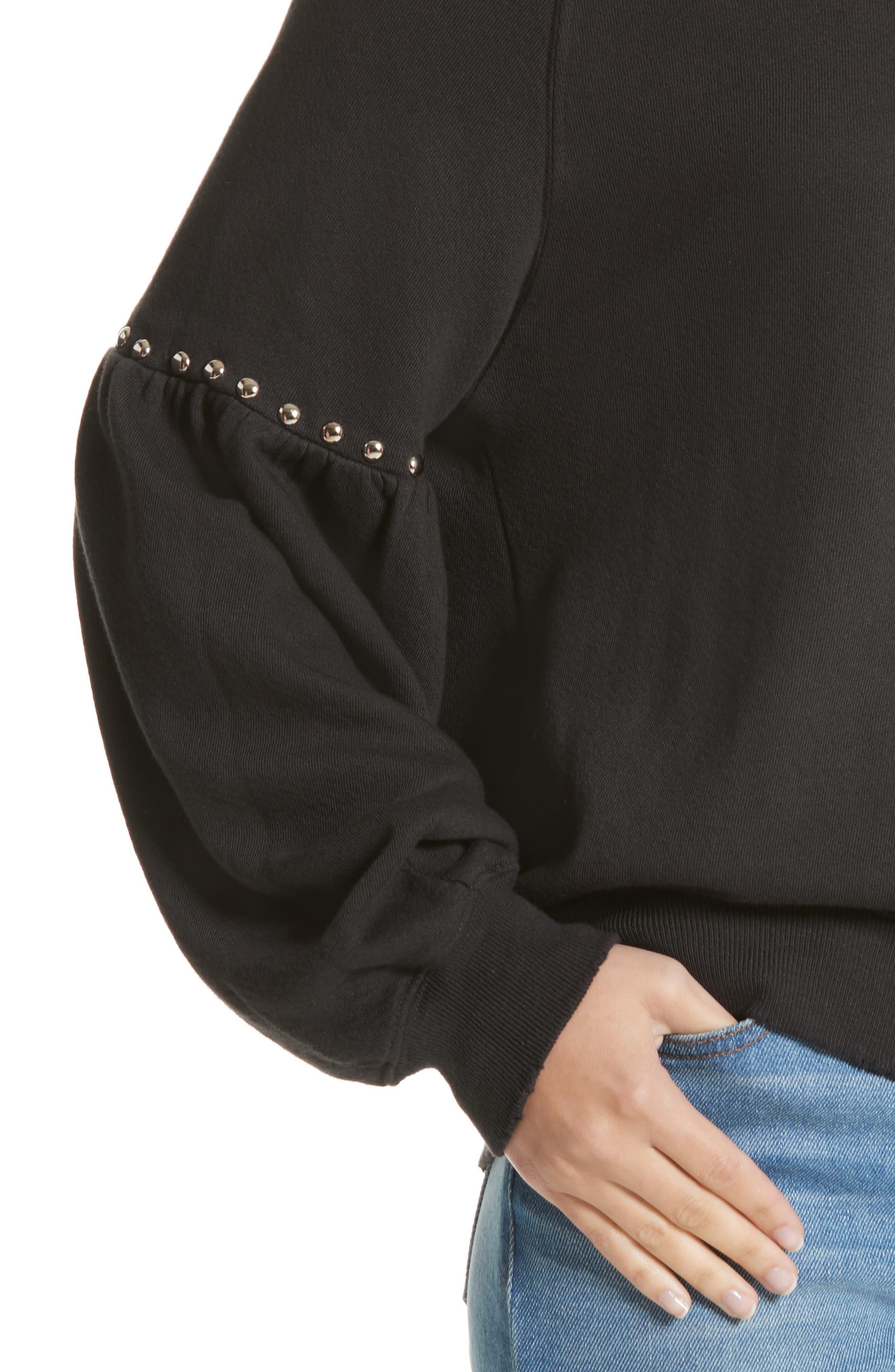 Alternate Image 4  - THE GREAT. The Bishop Sleeve Studded Sweatshirt