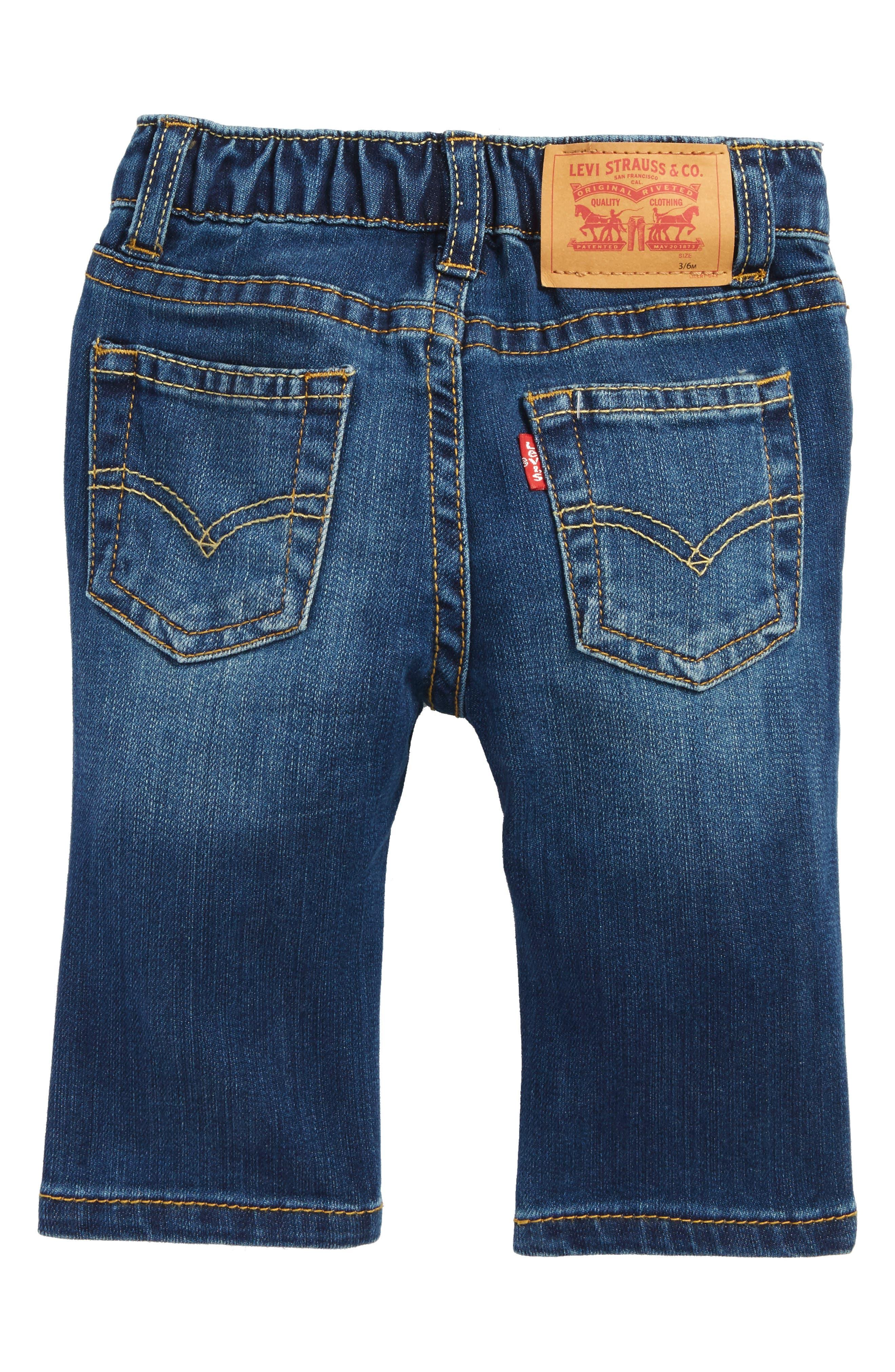 Alternate Image 2  - Levi's® Comfort Slim Fit Jeans (Reflex Blue) (Baby Boys)