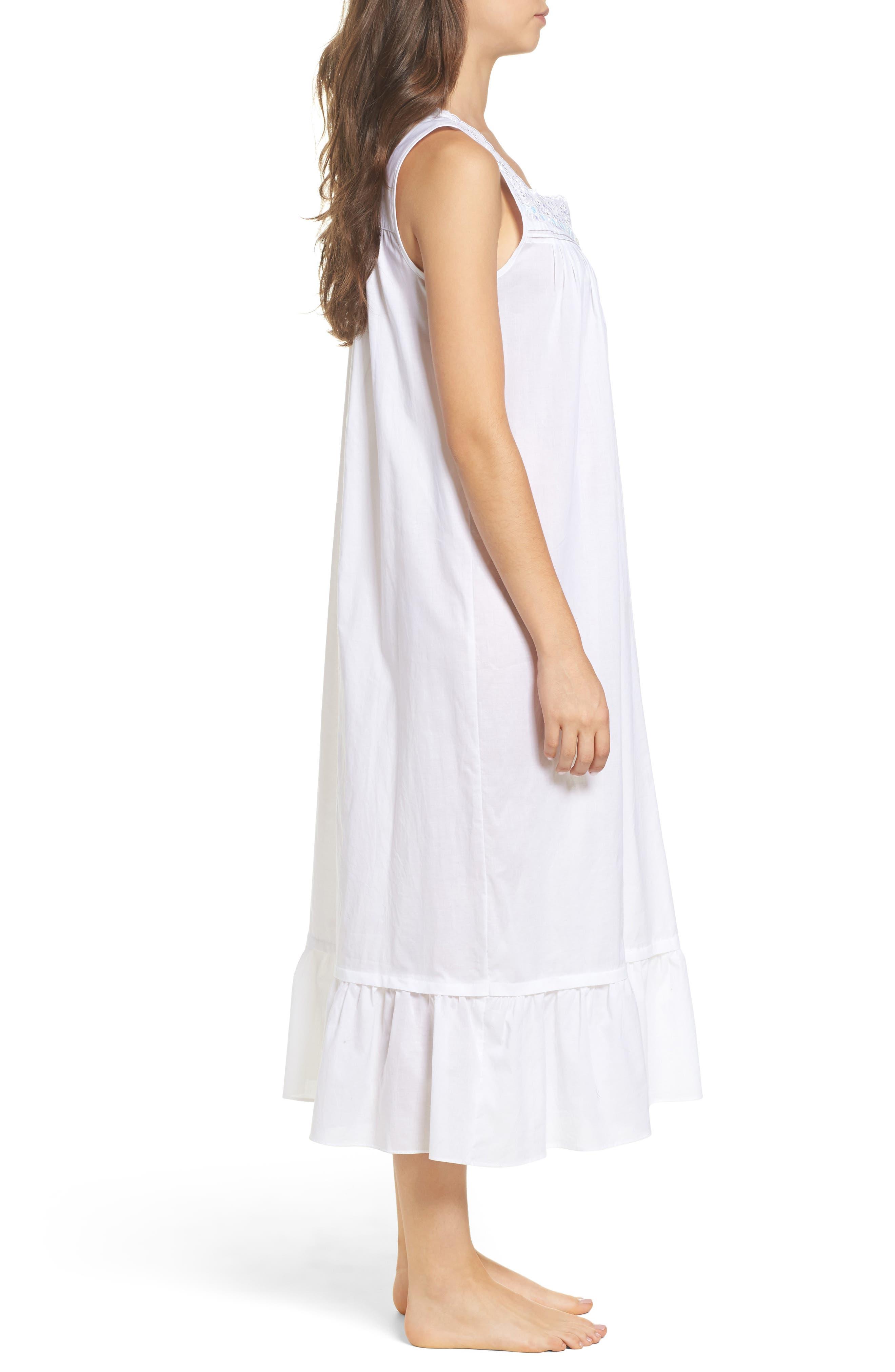 Ballet Nightgown,                             Alternate thumbnail 3, color,                             White