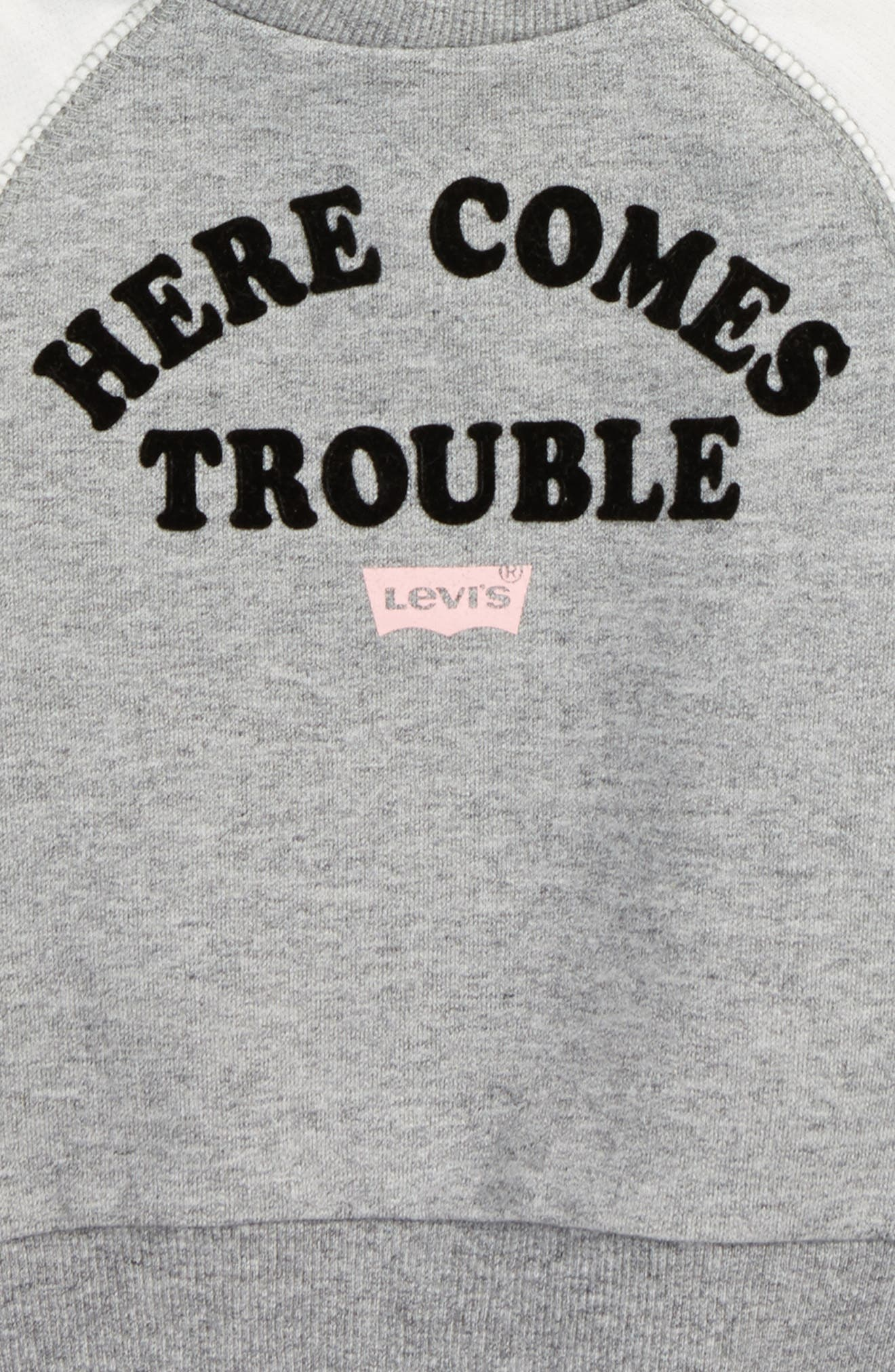 Alternate Image 2  - Levi's® Here Comes Trouble Graphic Tee (Baby Girls)