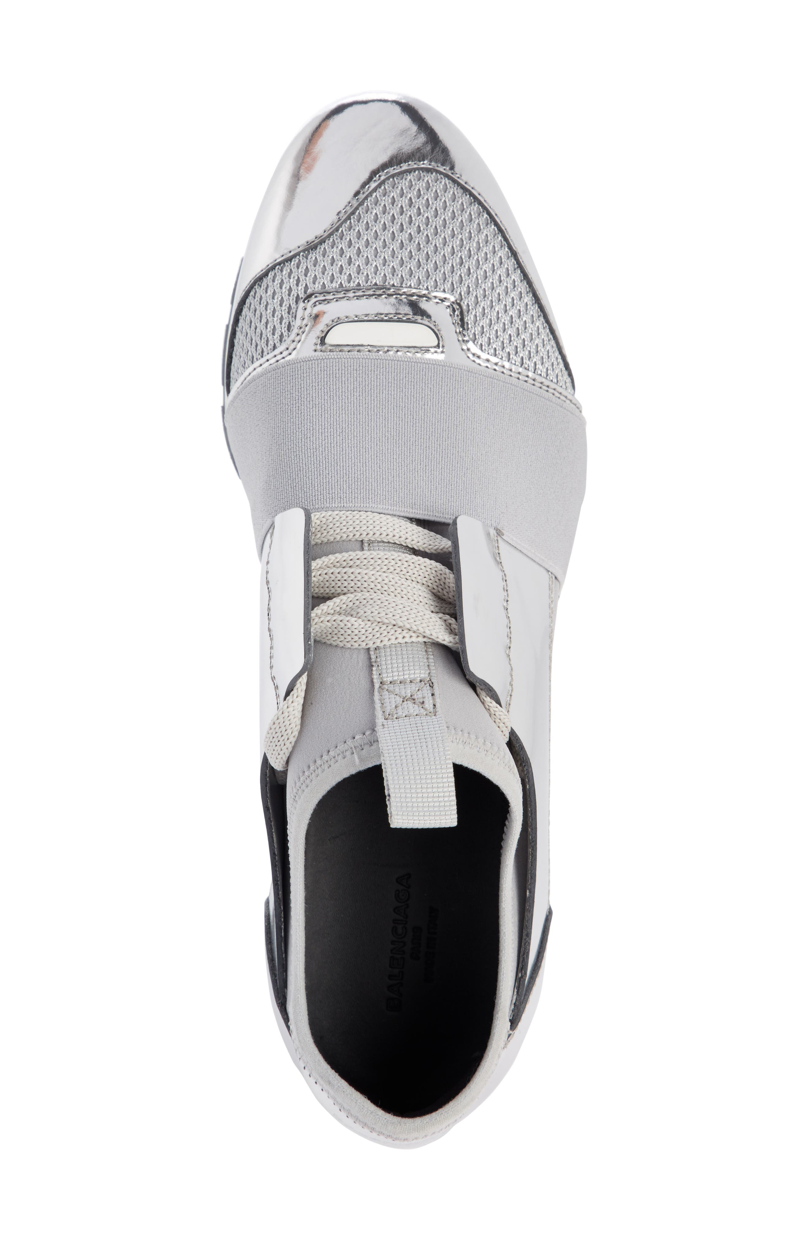 Lace-Up Sneaker,                             Alternate thumbnail 3, color,                             Silver