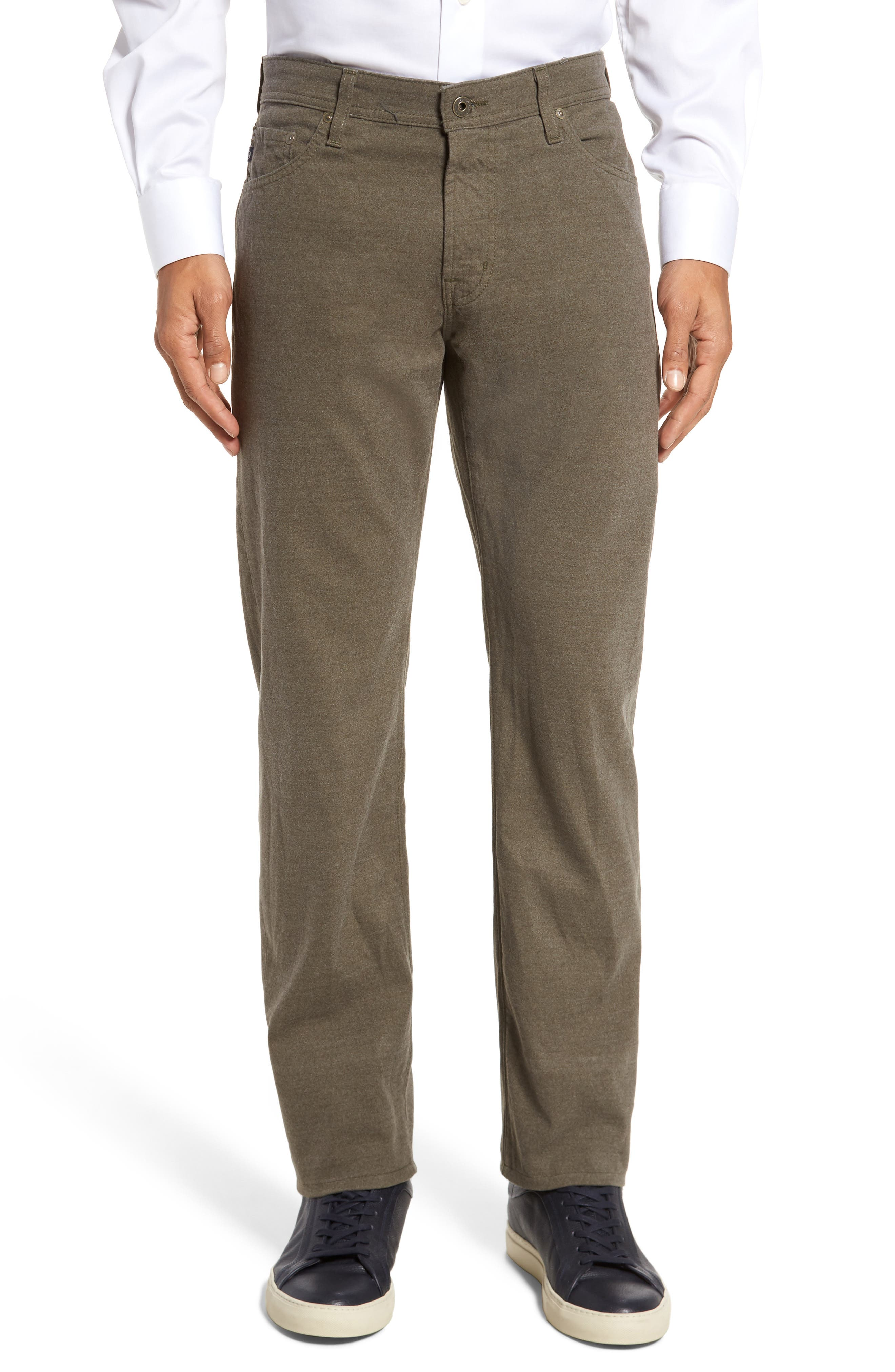 Alternate Image 1 Selected - AG Graduate Tailored Five-Pocket Straight Leg Pants