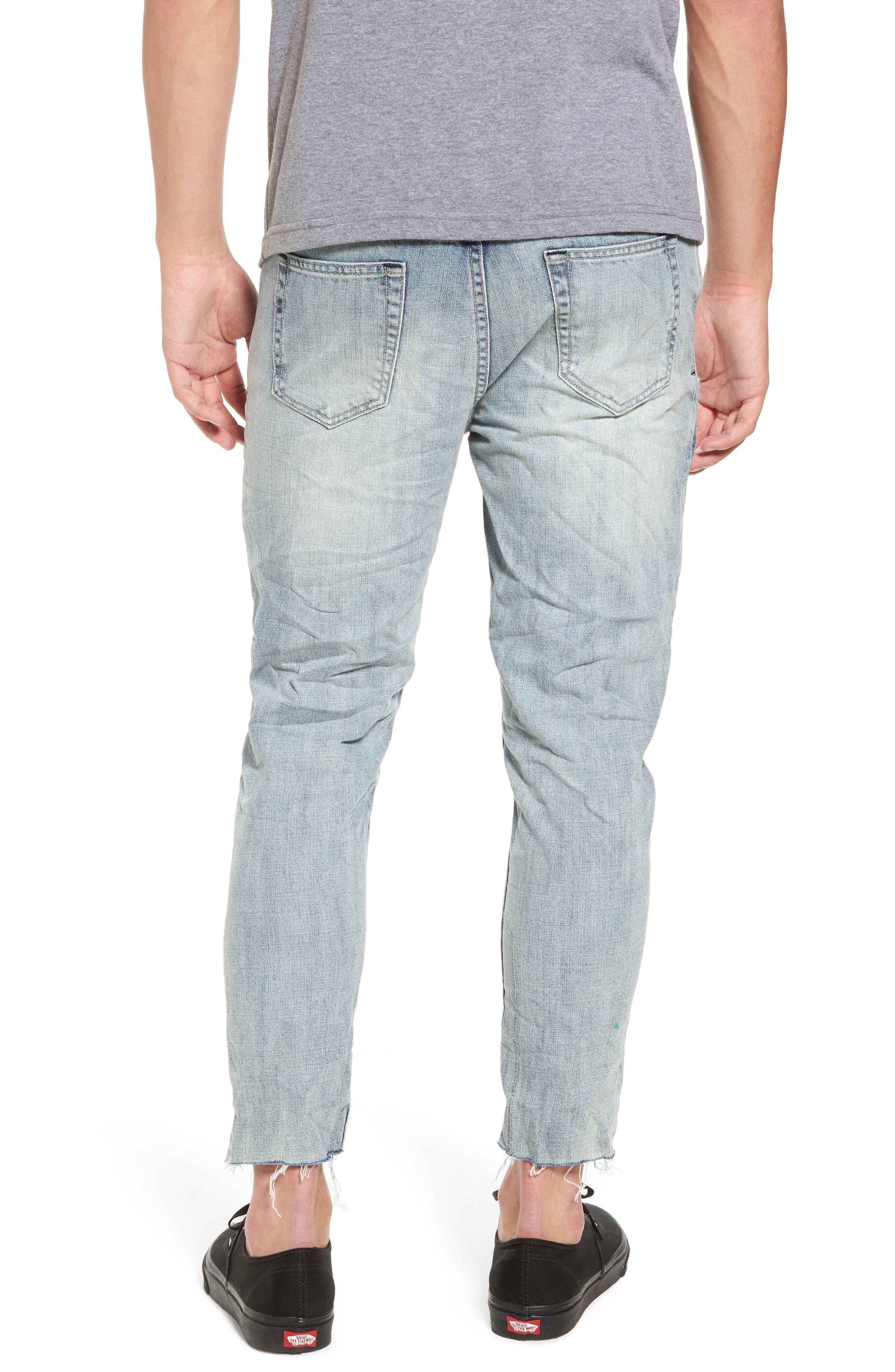 B.Line Crop Slim Fit Jeans,                             Alternate thumbnail 2, color,                             90S Stonewash