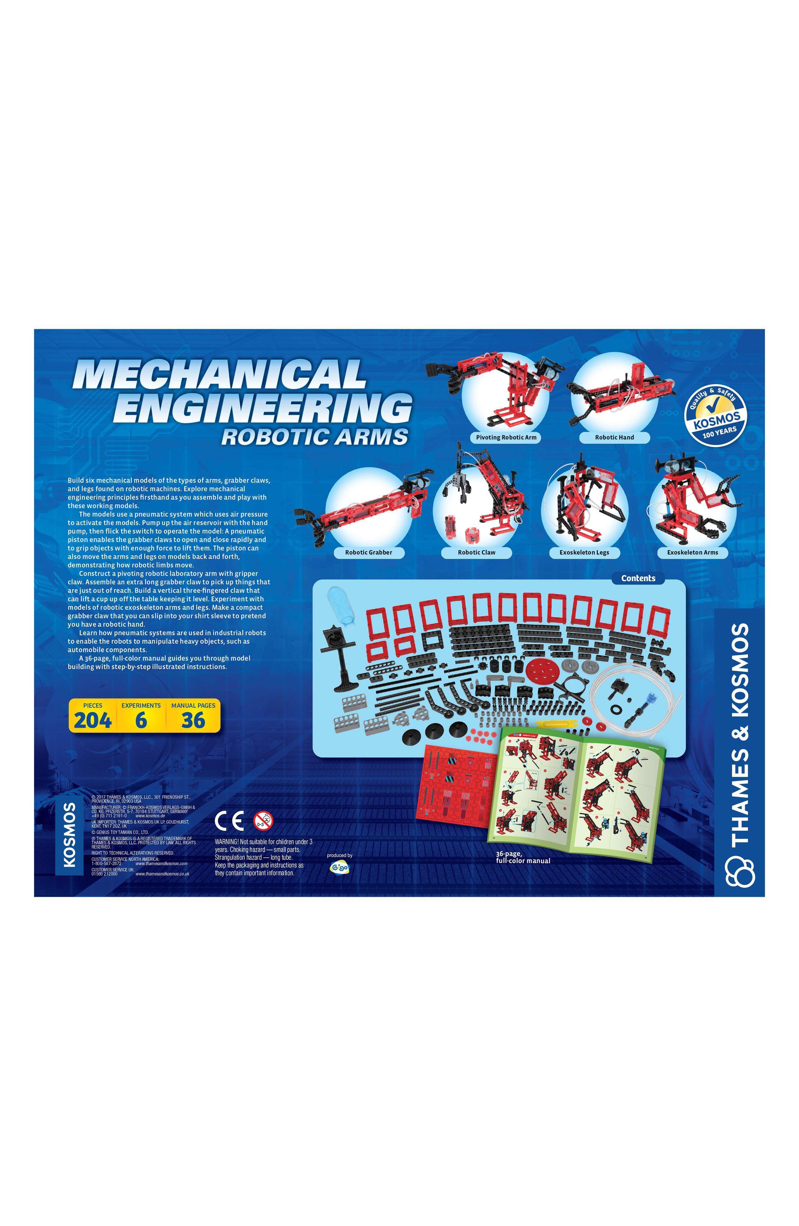Mechanical Engineering Robotic Arms Kit,                             Alternate thumbnail 2, color,                             Multi