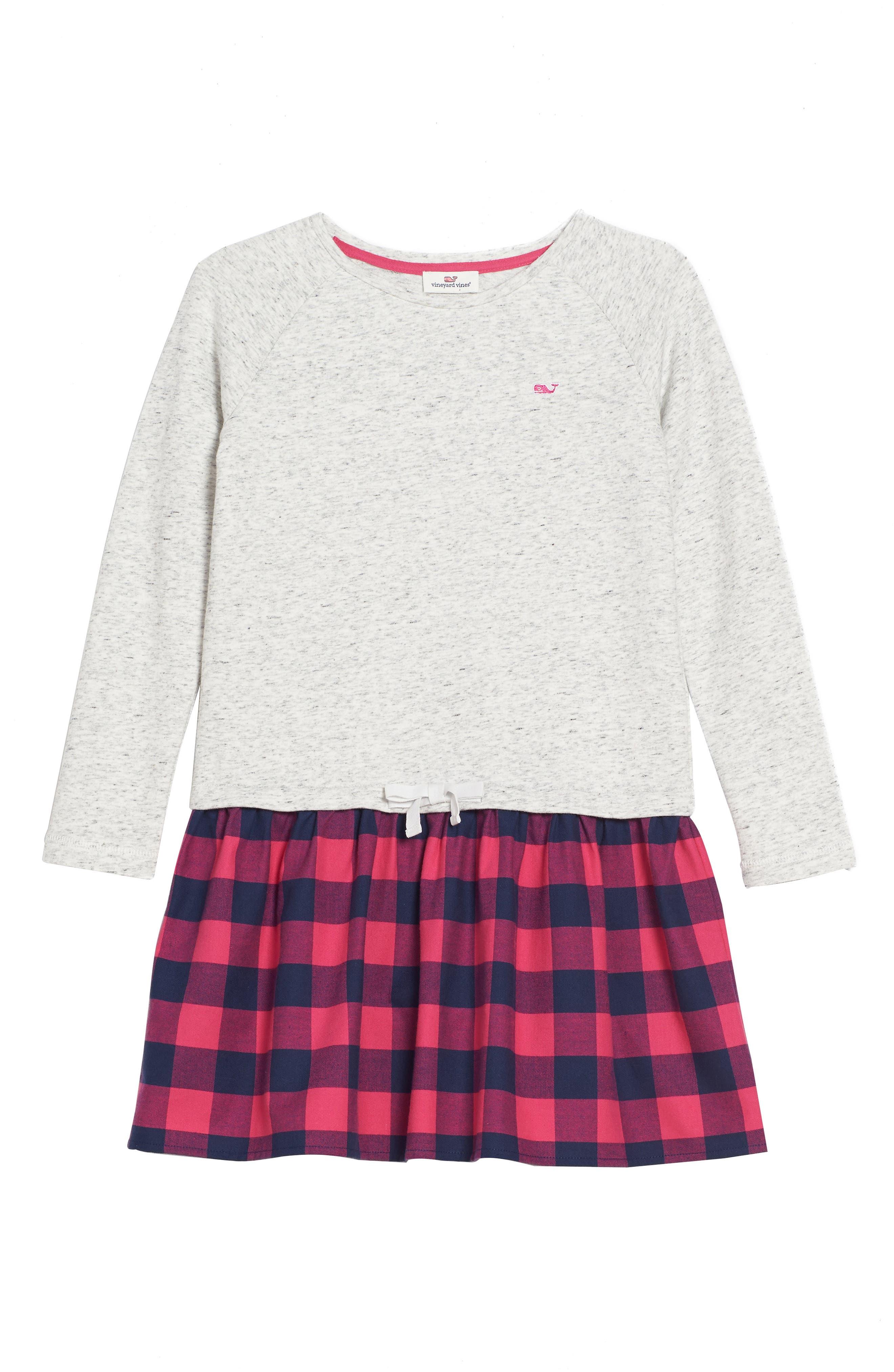 Main Image - vineyard vines Buffalo Check Sweatshirt (Toddler Girls)