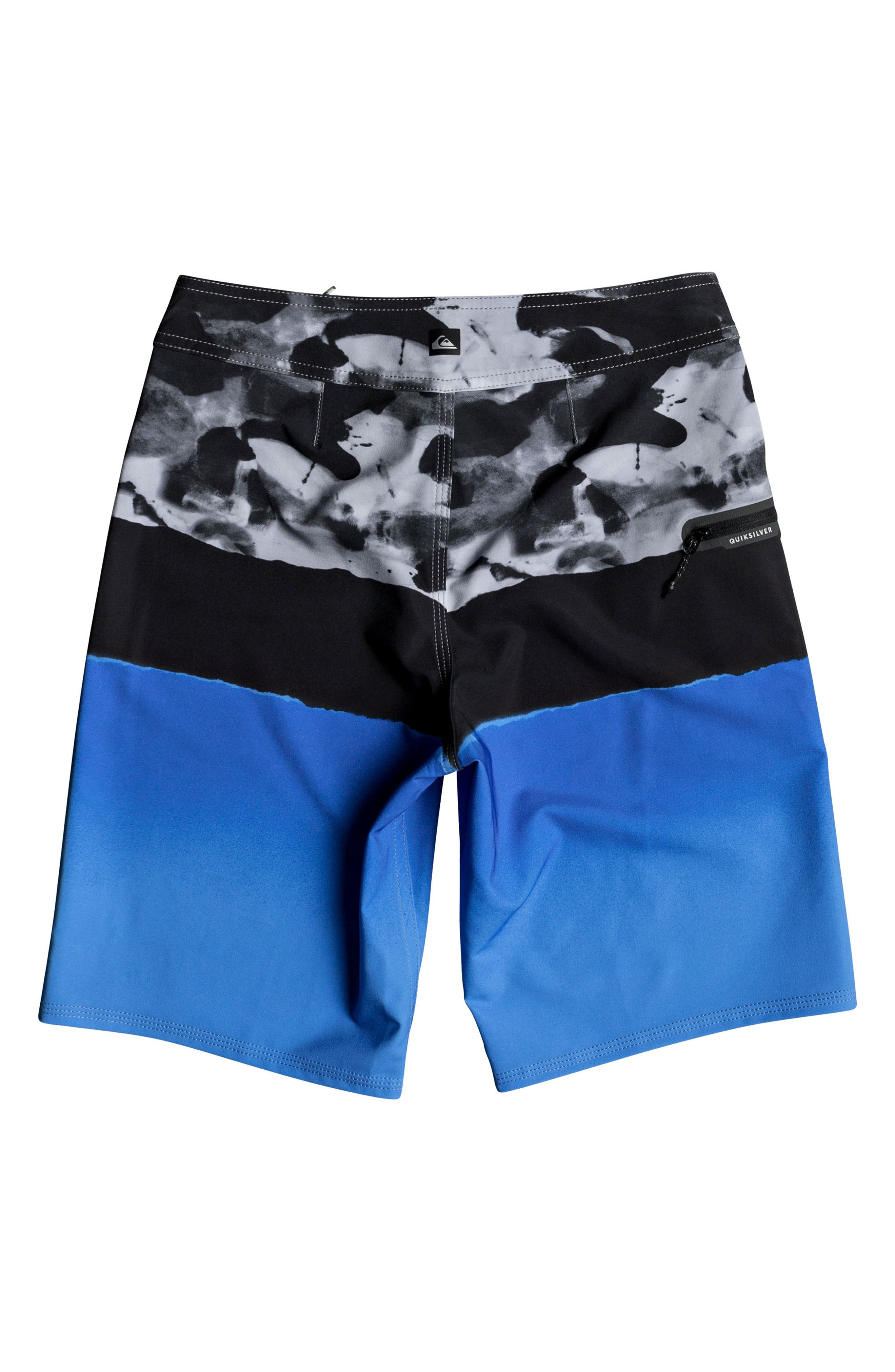 Blocked Resin Camo Board Shorts,                             Alternate thumbnail 2, color,                             Electric Blue