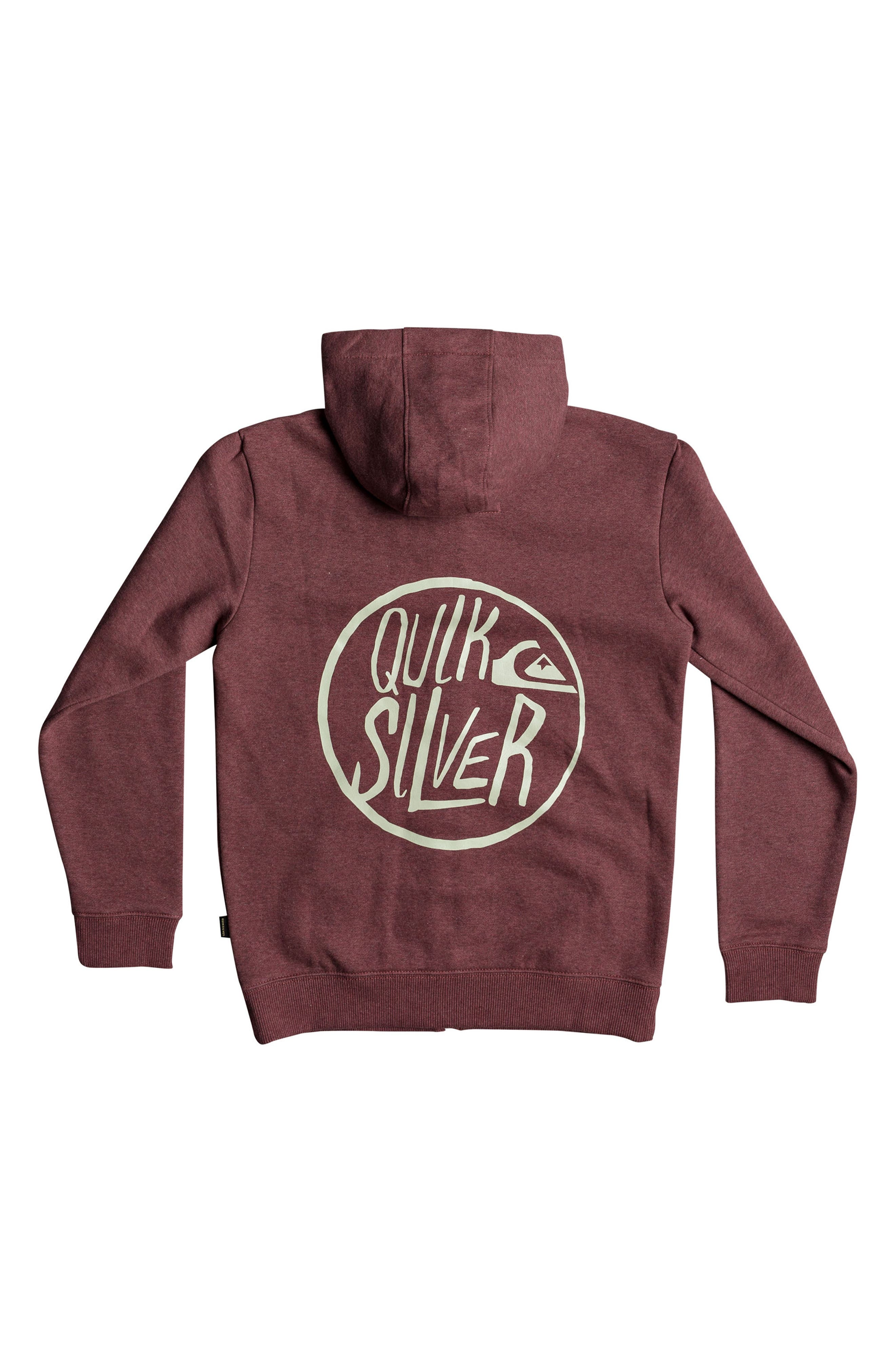 Zip-Up Hoodie,                             Alternate thumbnail 2, color,                             Pomegranate Heather