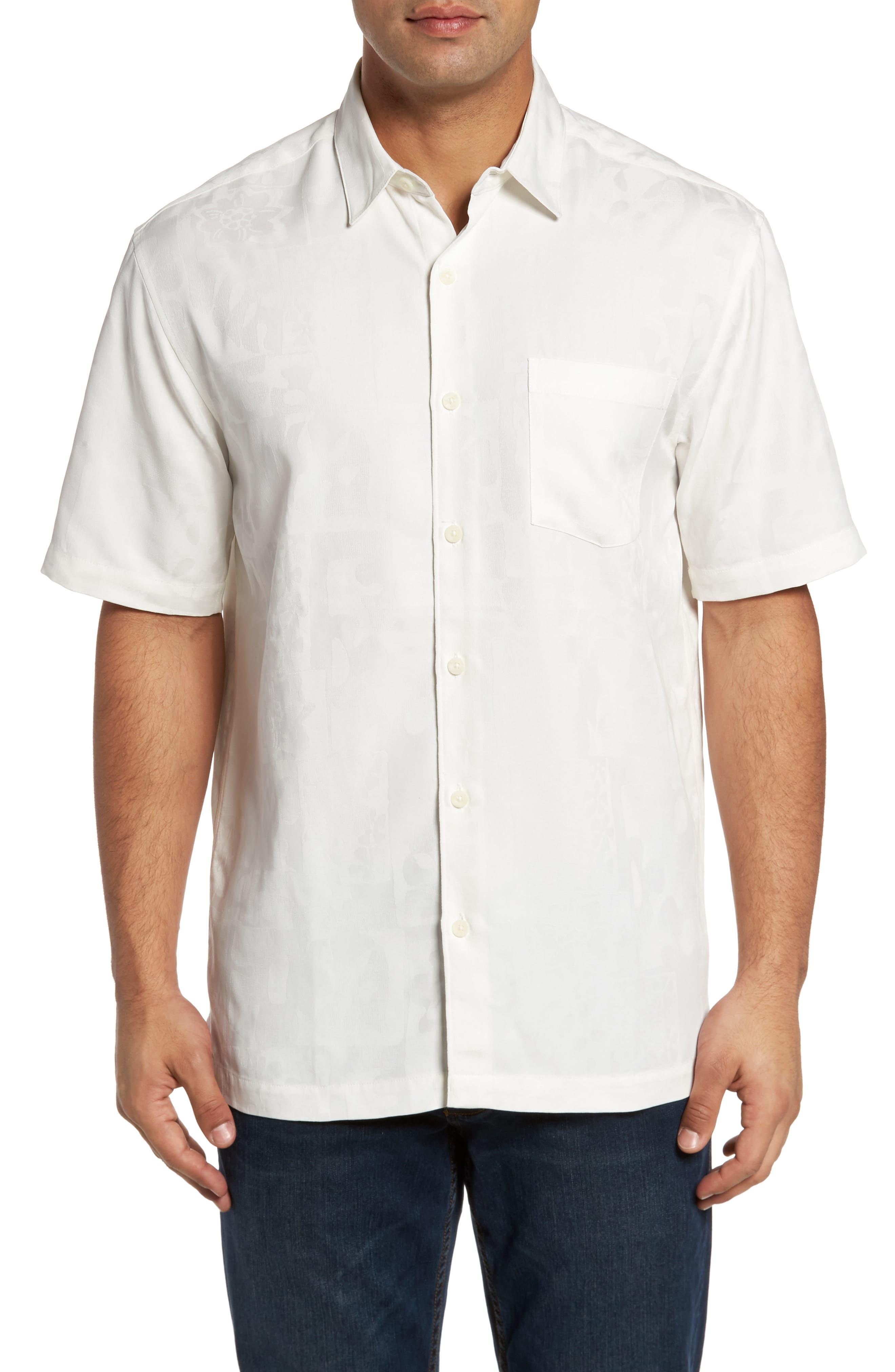 Pahu Classic Fit Sport Shirt,                         Main,                         color, Off White