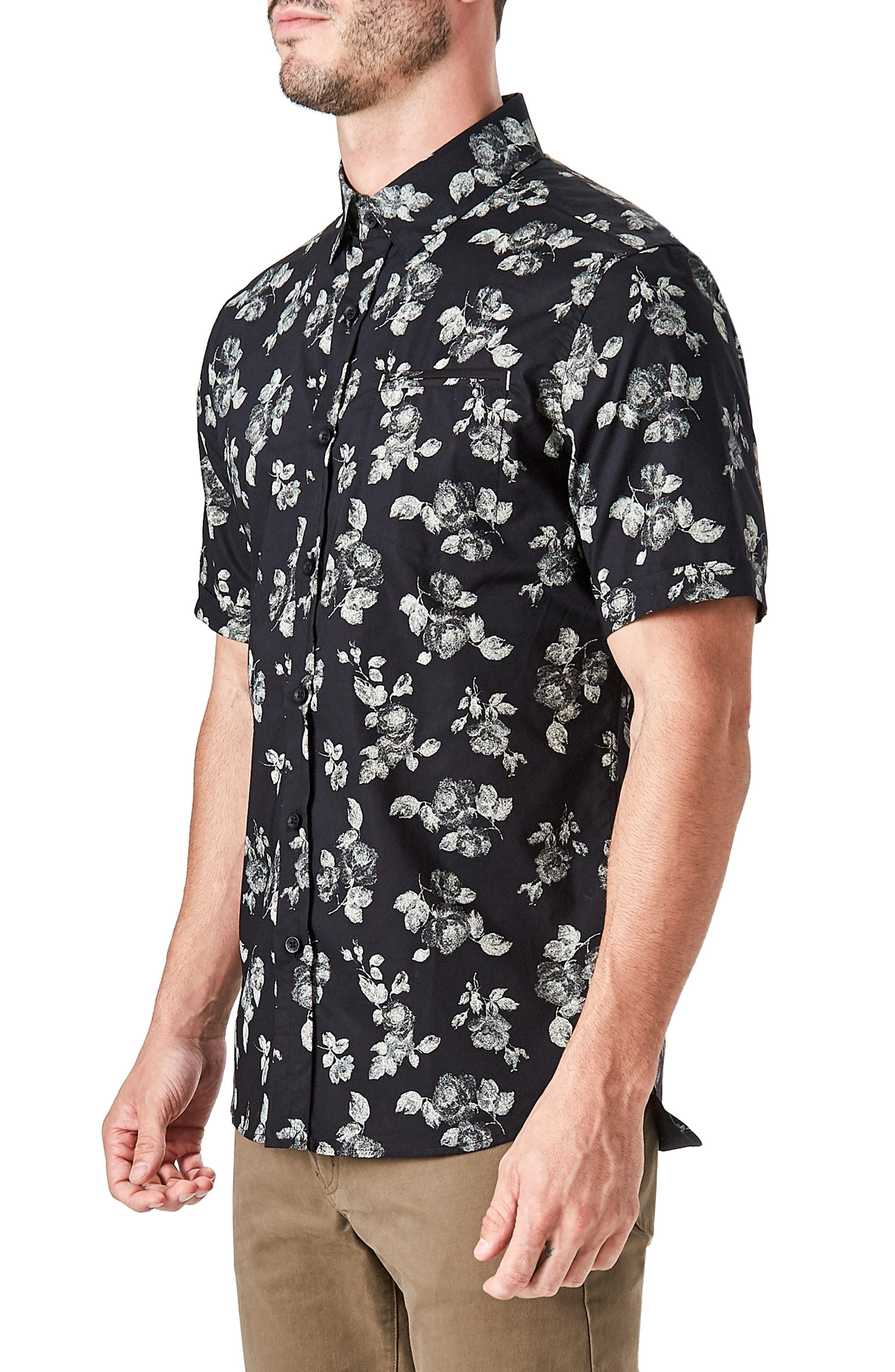 Human Nature Woven Shirt,                             Alternate thumbnail 3, color,                             Black