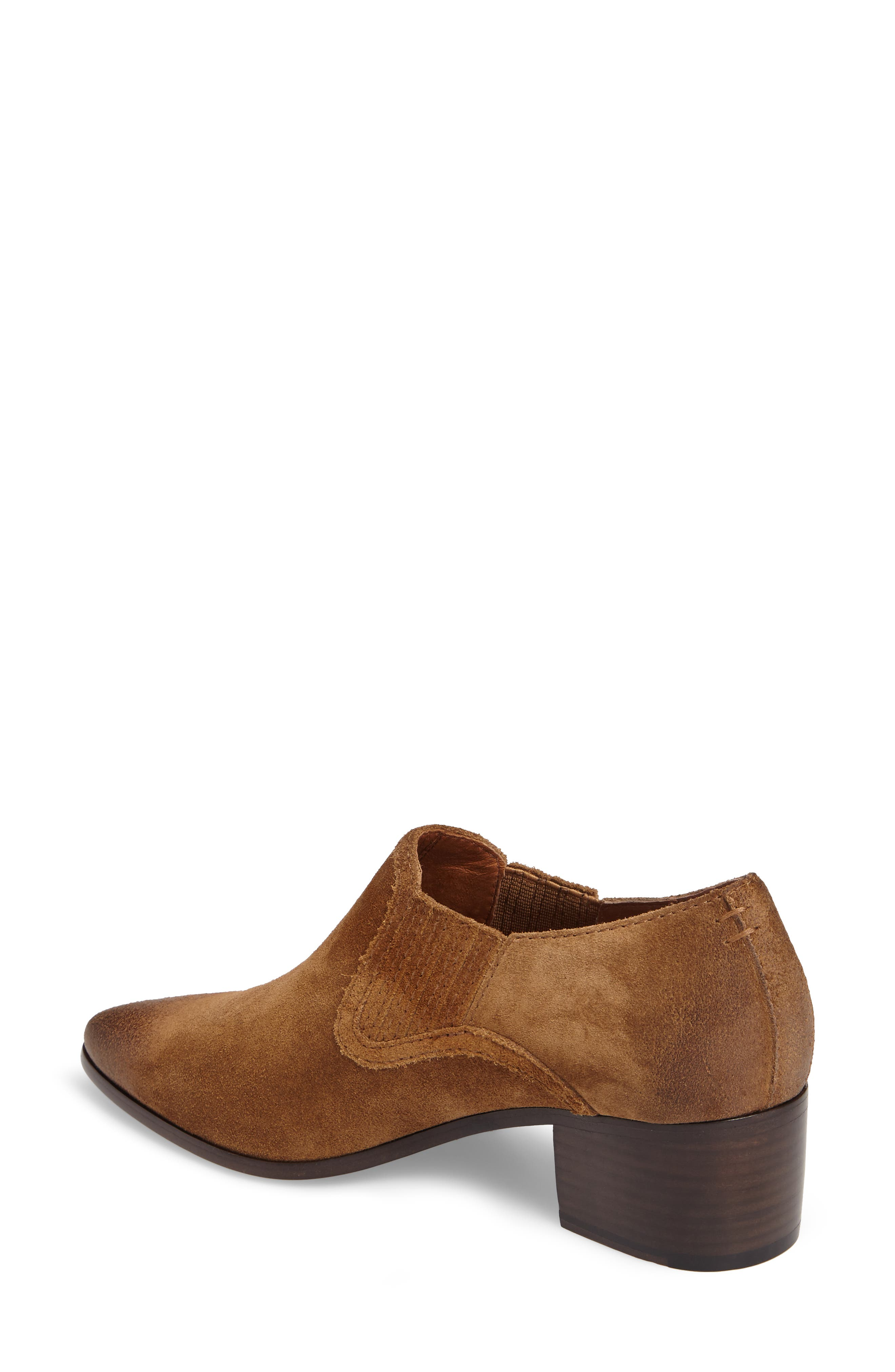 Eleanor Pointy Toe Bootie,                             Alternate thumbnail 2, color,                             Chestnut