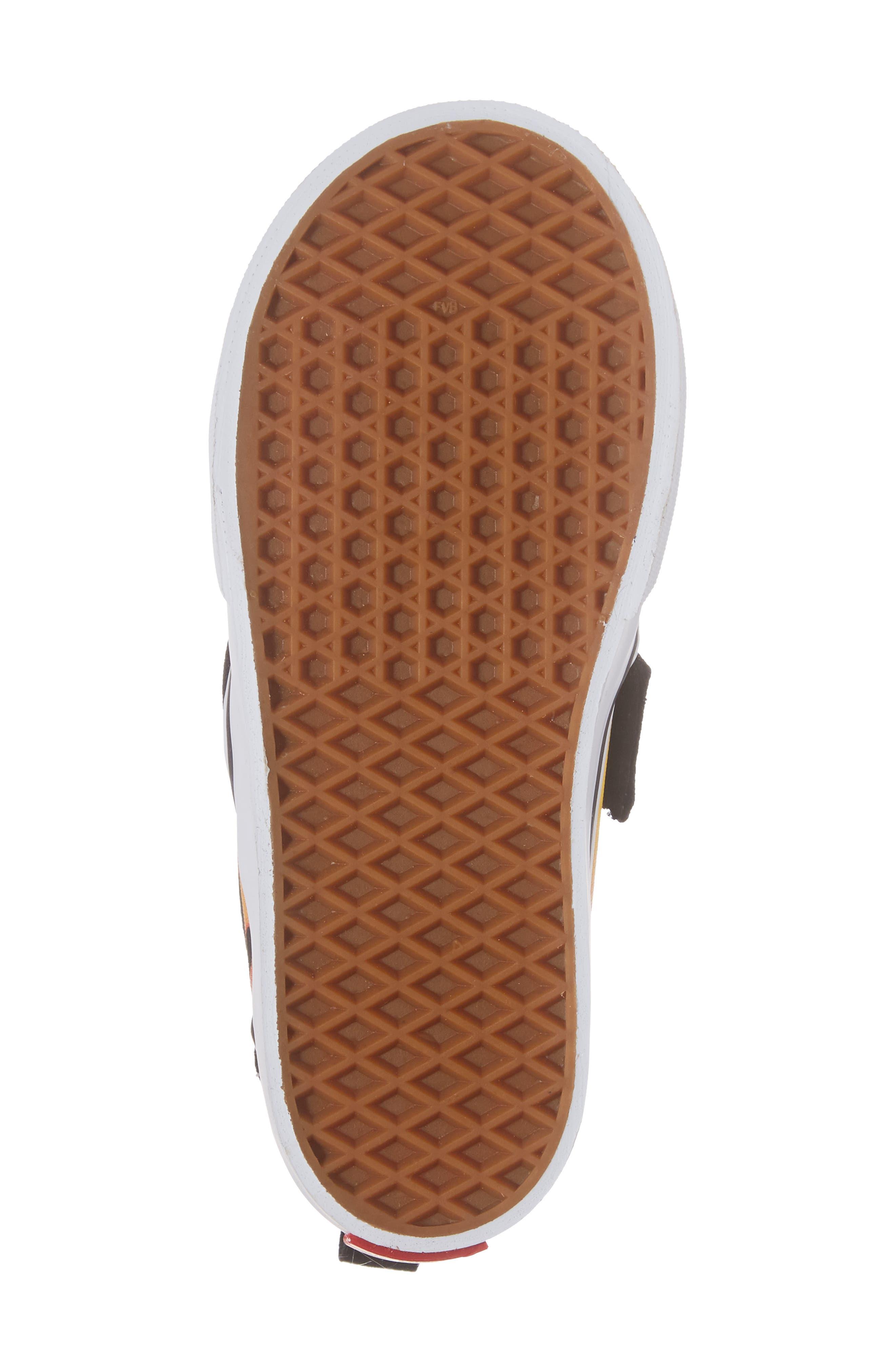 Slip-On V Sneaker,                             Alternate thumbnail 6, color,                             Flame Black/ True White