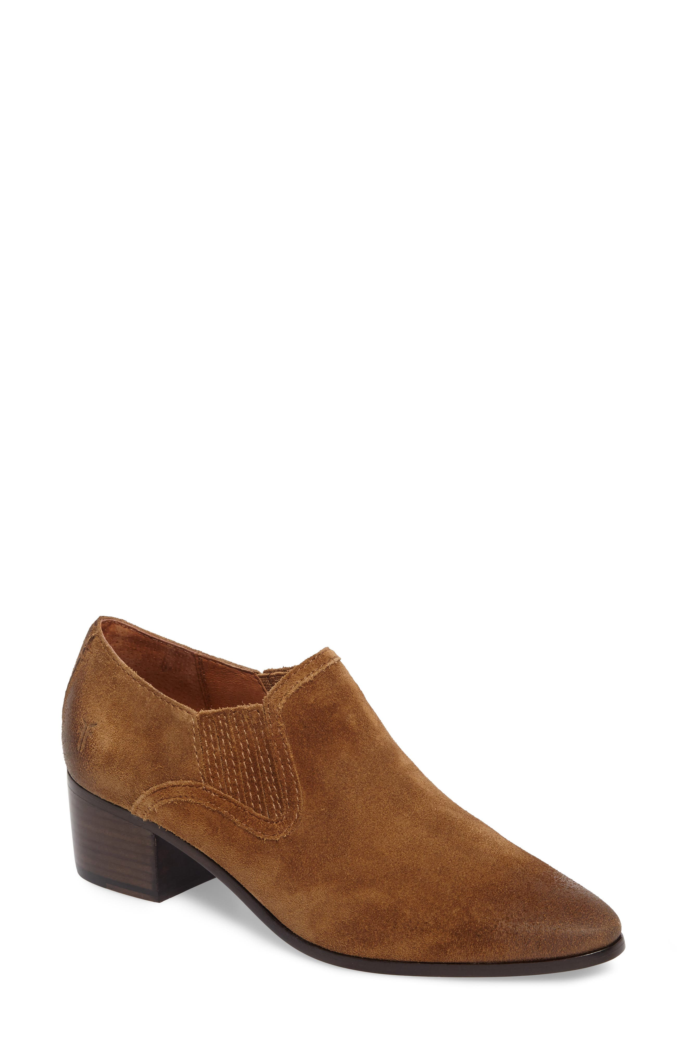 Eleanor Pointy Toe Bootie,                             Main thumbnail 1, color,                             Chestnut