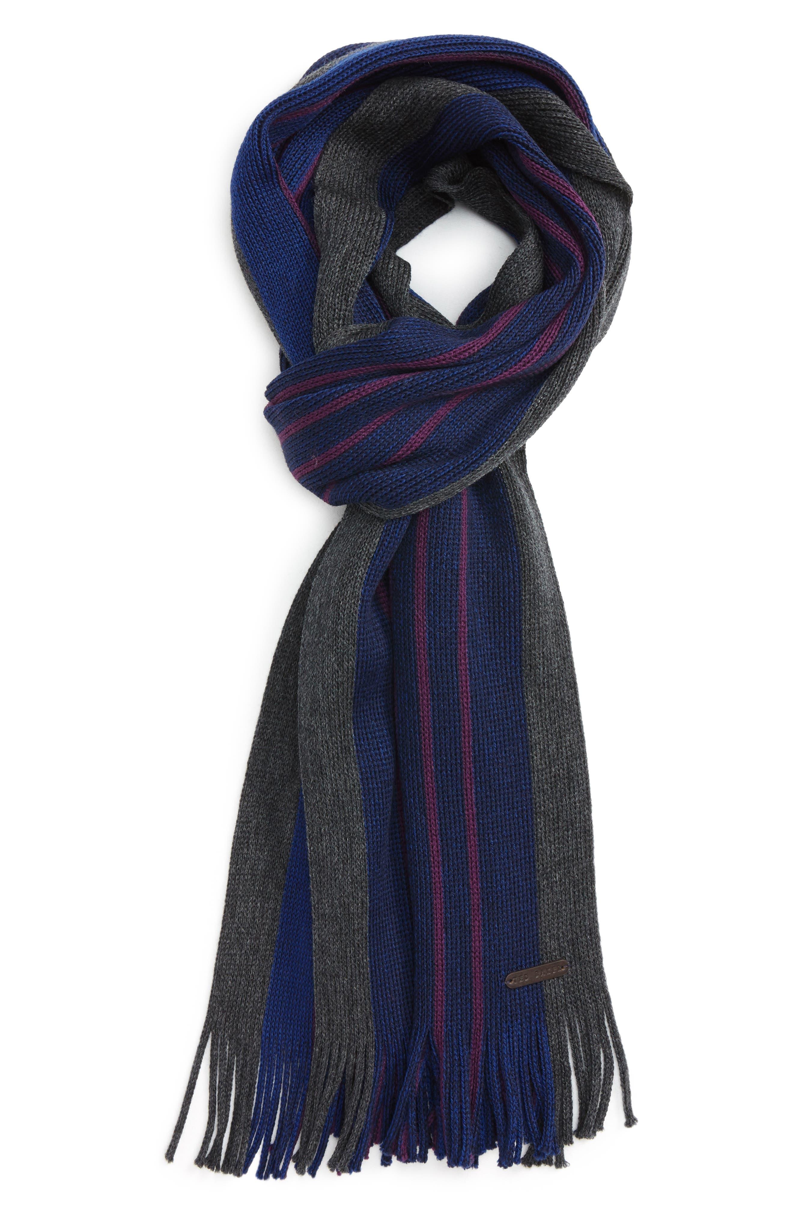 Elmm Stripe Wool Scarf,                             Main thumbnail 1, color,                             Blue