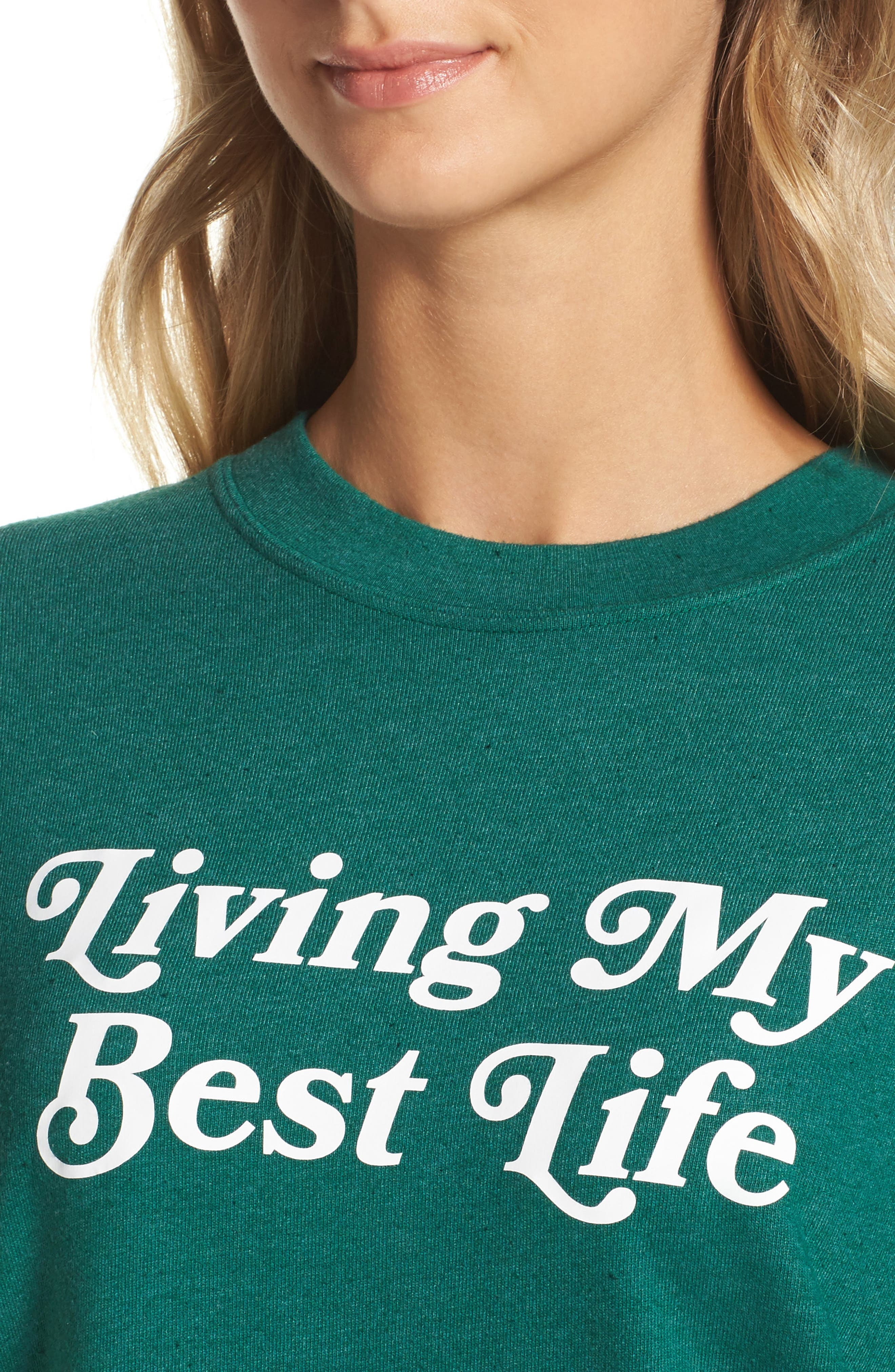 Alternate Image 4  - Private Party Living My Best Life Sweatshirt