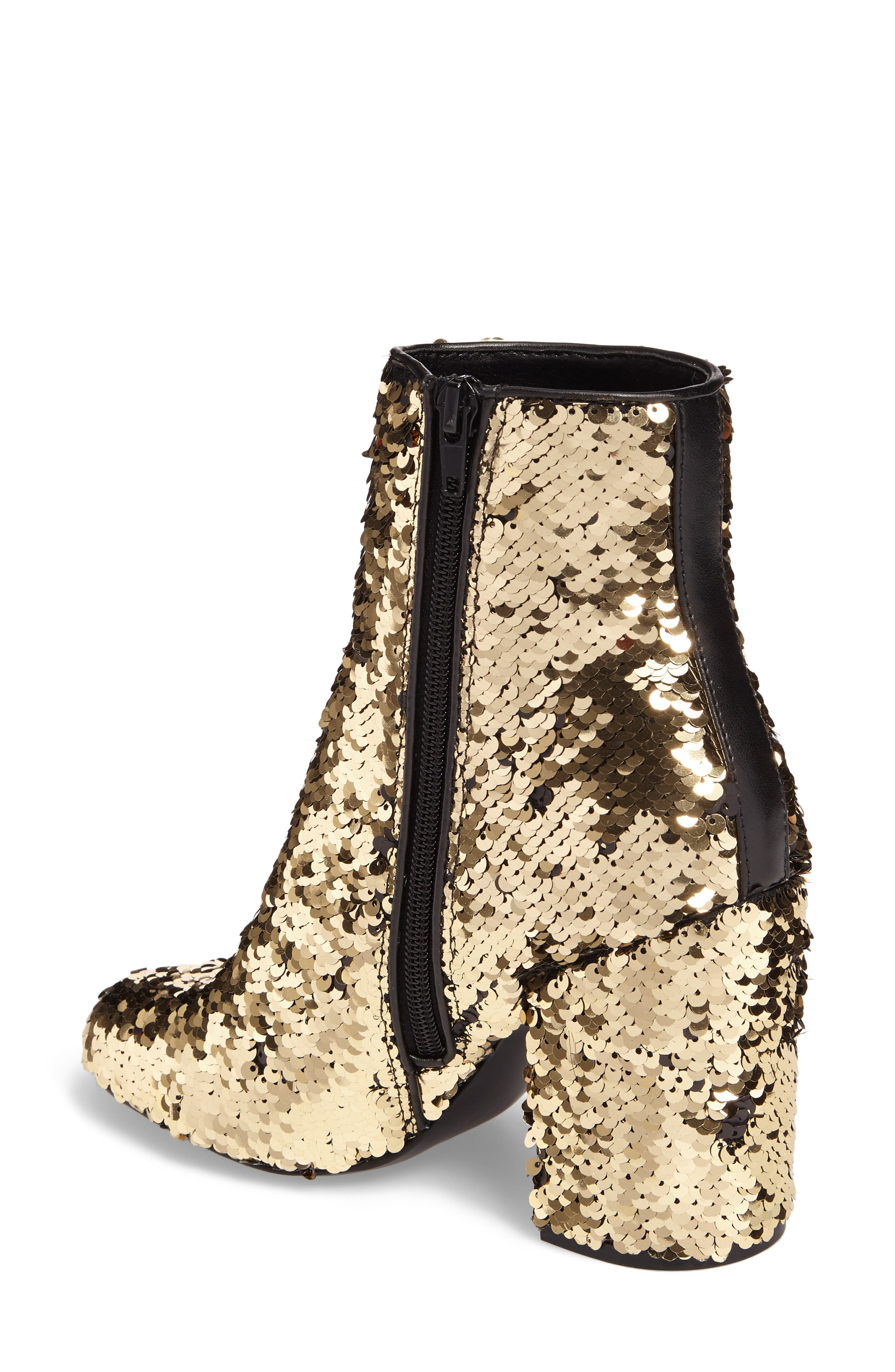 Georgia Sequin Bootie,                             Alternate thumbnail 2, color,                             Gold