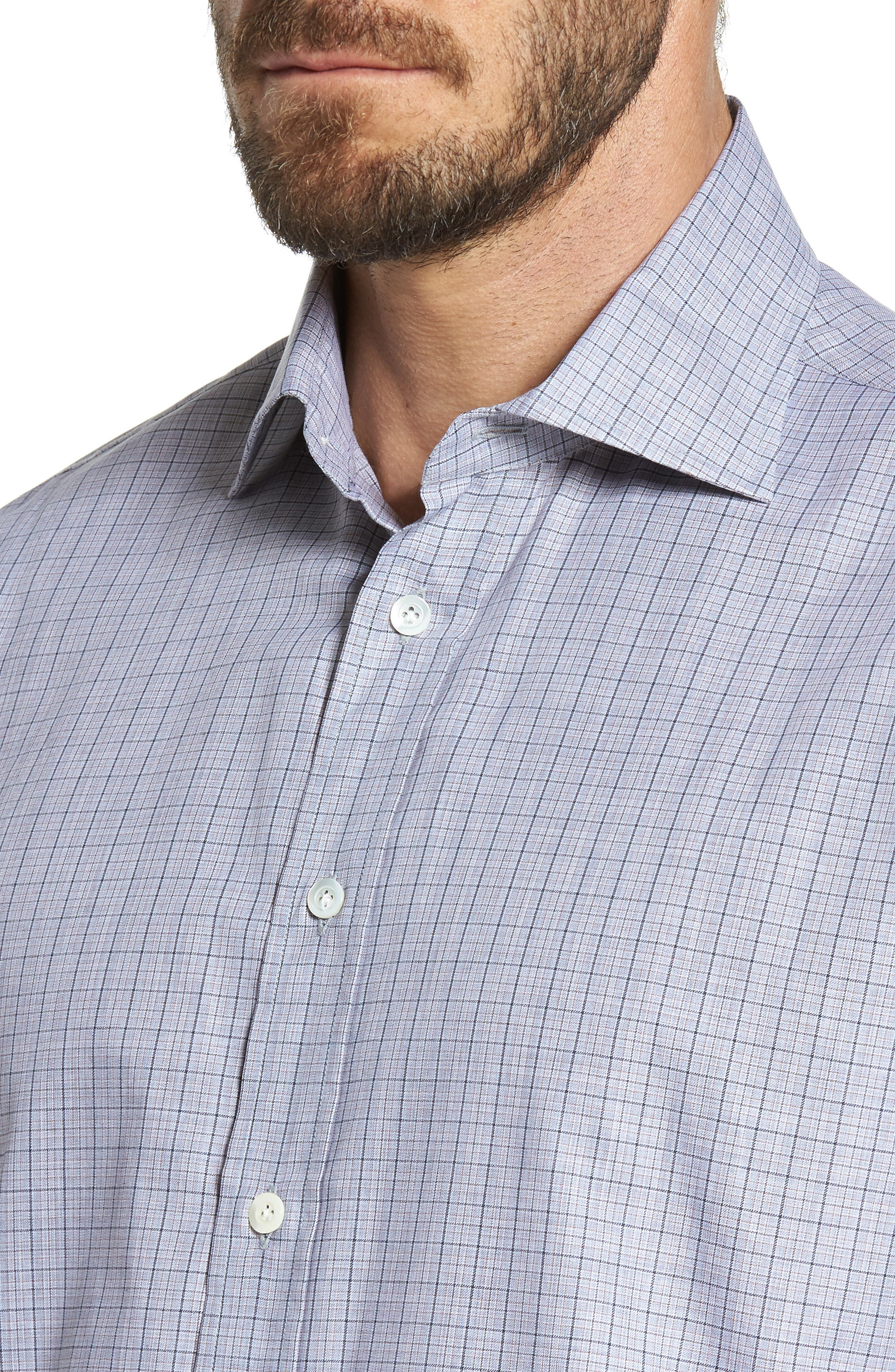 Alternate Image 4  - Luciano Barbera Classic Fit Plaid Sport Shirt