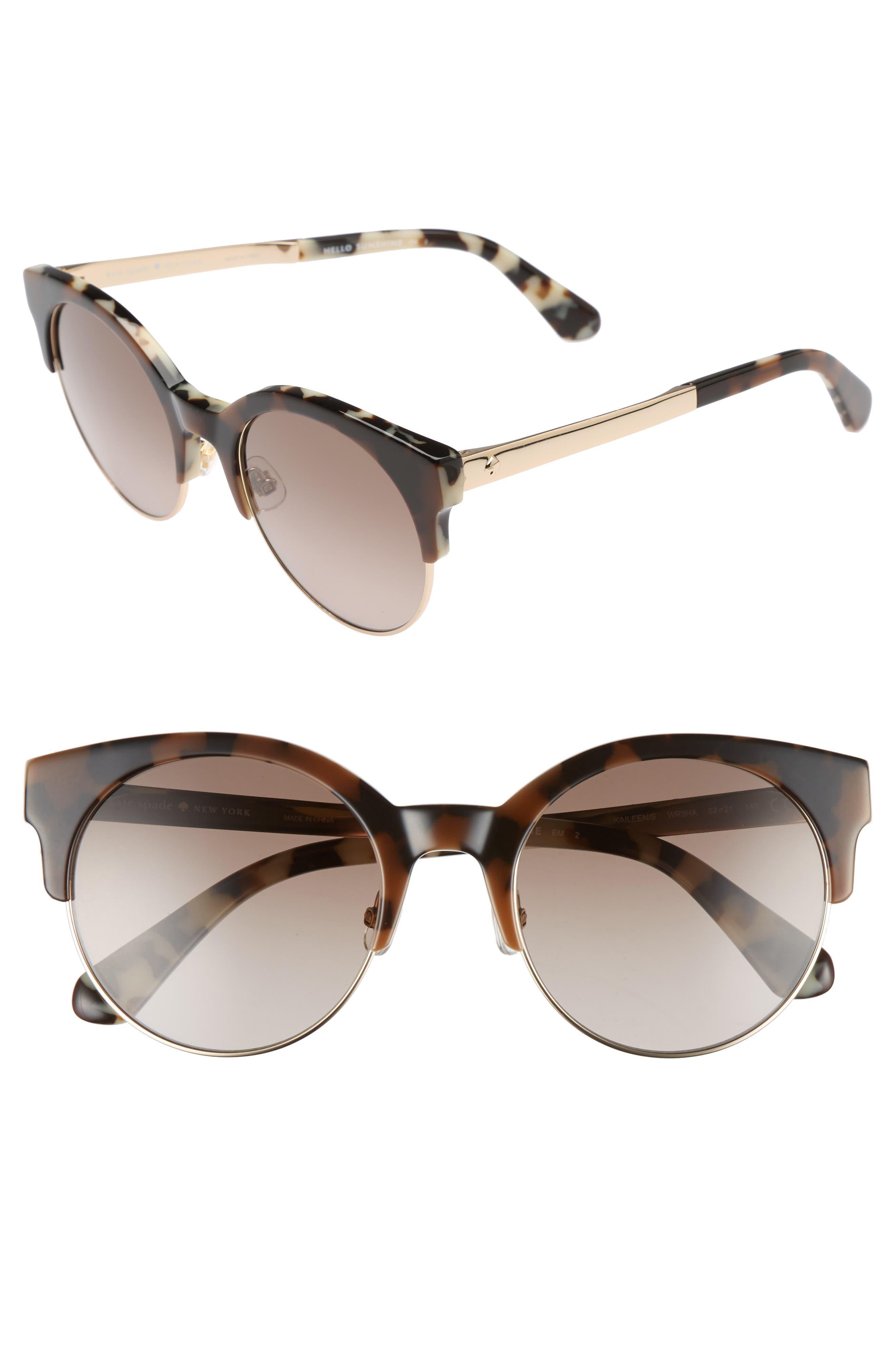 Main Image - kate spade new york kaileen 52mm semi-rimless cat eye sunglasses