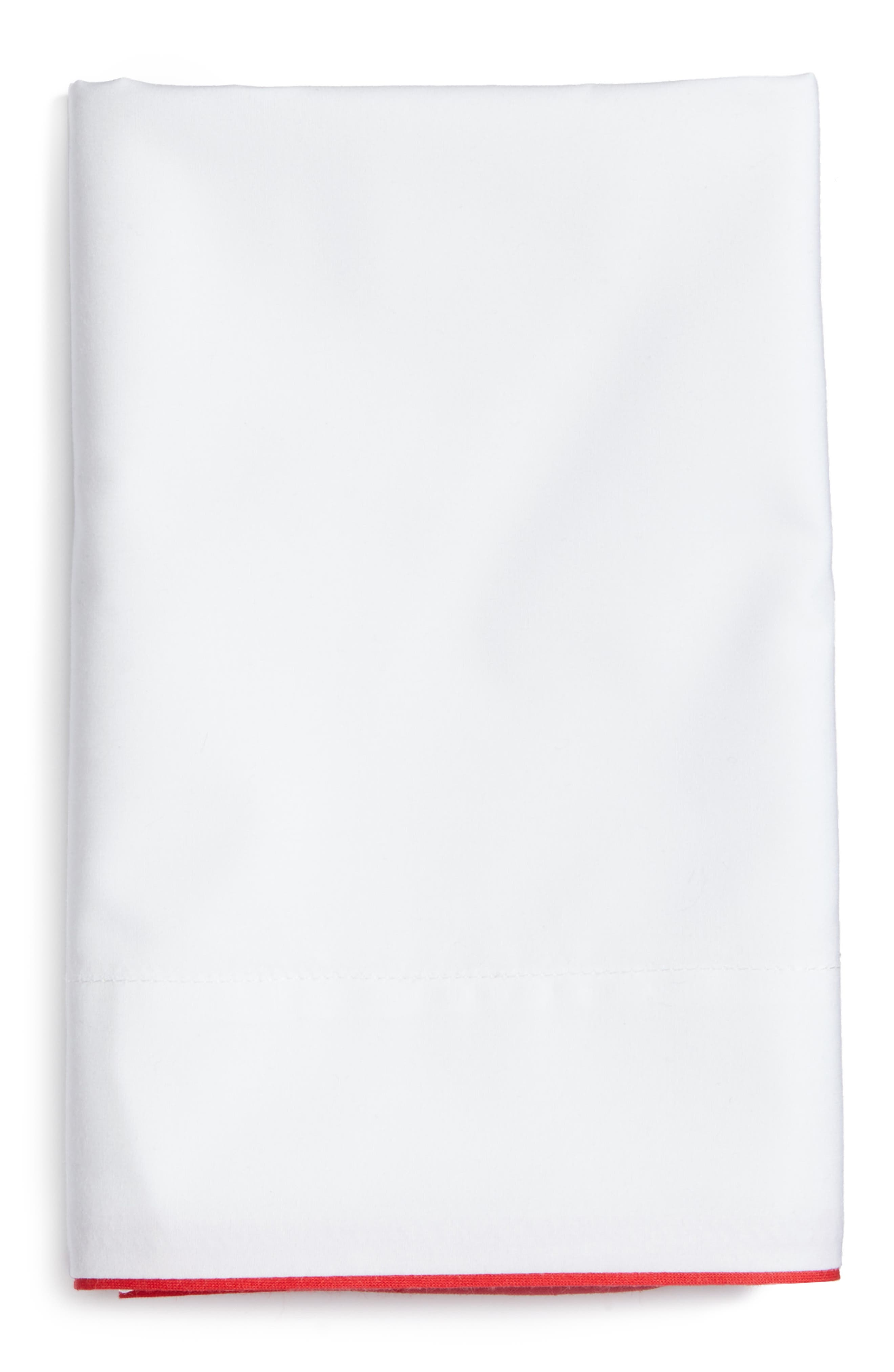 Series 1 500 Thread Count Pillowcases,                         Main,                         color, Red