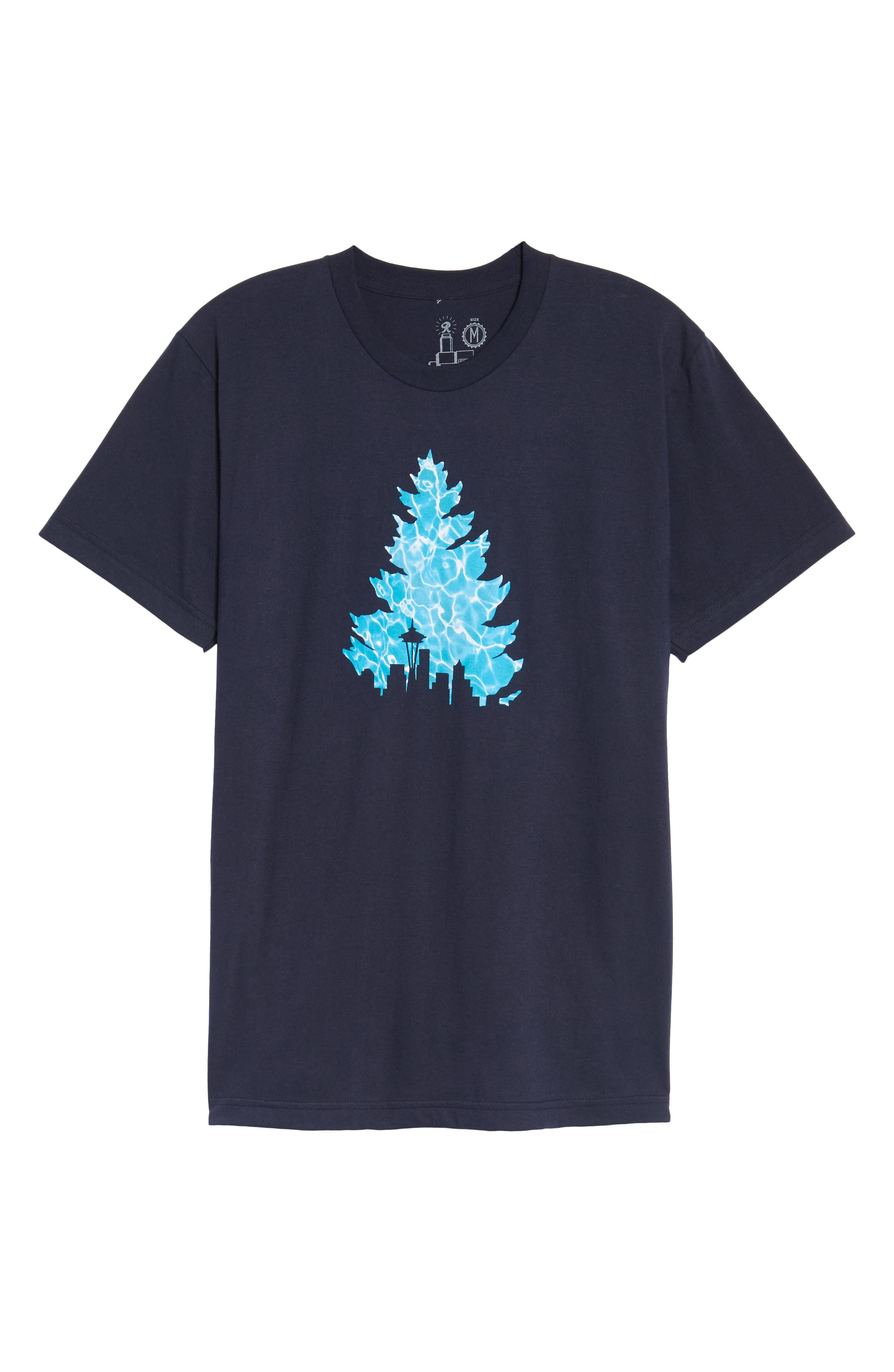 Johnny Tree Pool Graphic T-Shirt,                             Alternate thumbnail 6, color,                             Navy